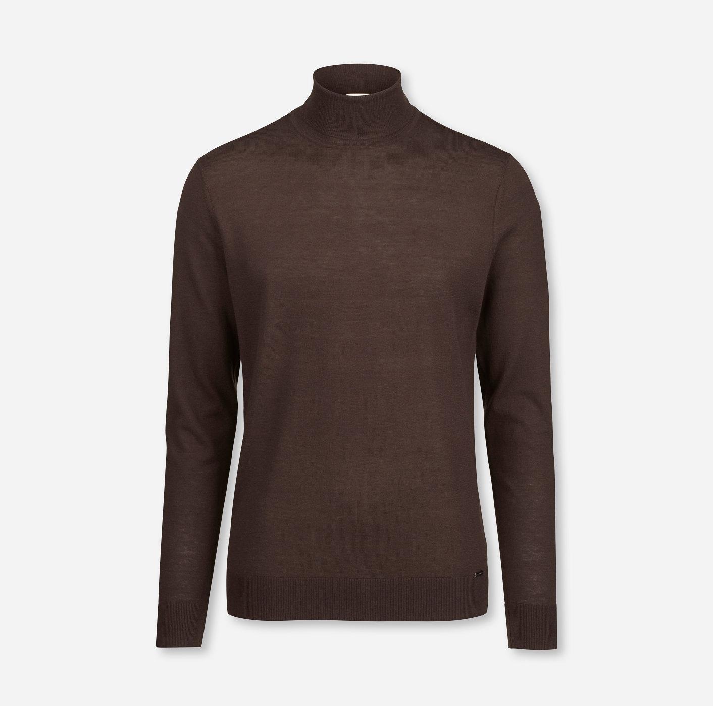 Ruf zuerst Top Marken berühmte Designermarke OLYMP Level Five Strick body fit Pullover Rollkragen Braun ...