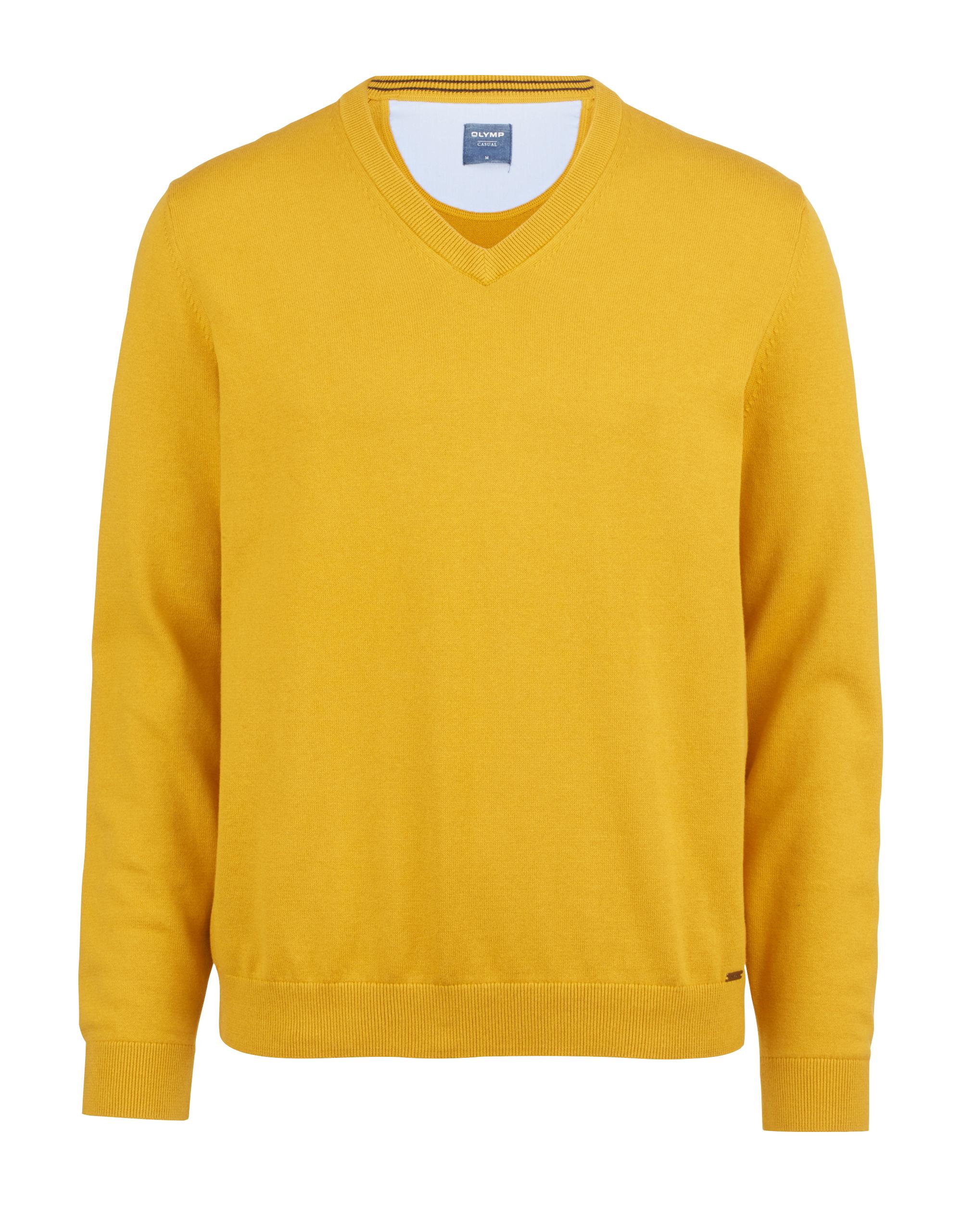 OLYMP Strick Pullover, modern fit, Ocker, 3XL | Bekleidung > Pullover > Sonstige Pullover | Ocker | Baumwolle | OLYMP Strick