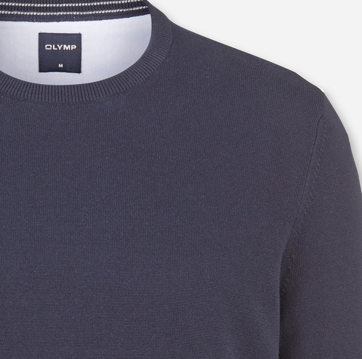 OLYMP Knitwear, modern fit, Pullover crew neck, Midnight Blue