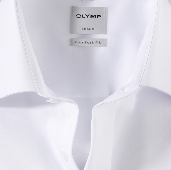 OLYMP Luxor, comfort fit, New Kent, Blanc