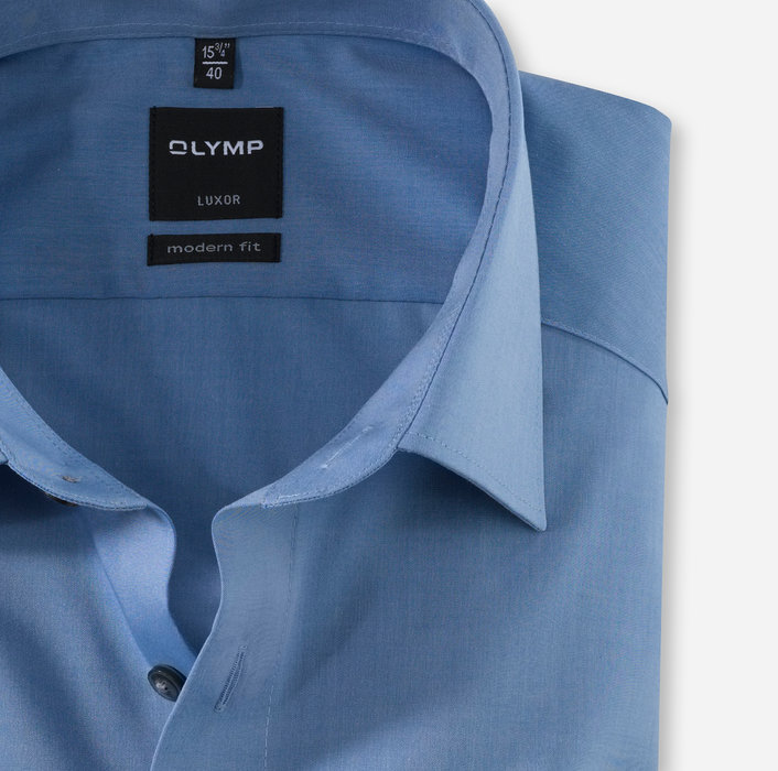 OLYMP Luxor, modern fit, Extra langer Arm, New Kent, Blau
