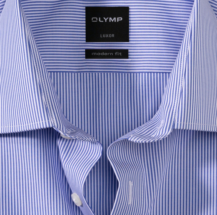 OLYMP Luxor, modern fit, Businesshemd, New Kent, Blau