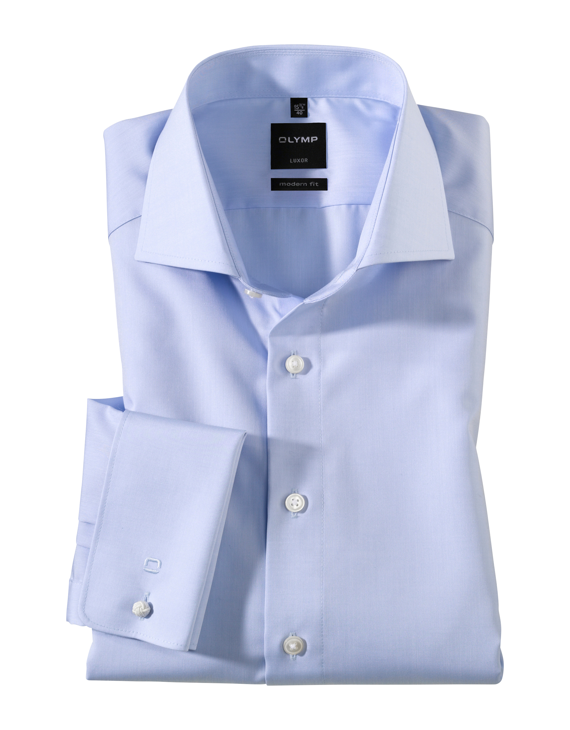 OLYMP Luxor Hochzeitshemd, modern fit, Extra langer Arm, Bleu, 44   Bekleidung > Hemden > Sonstige Hemden   Bleu   100% baumwolle   OLYMP Luxor