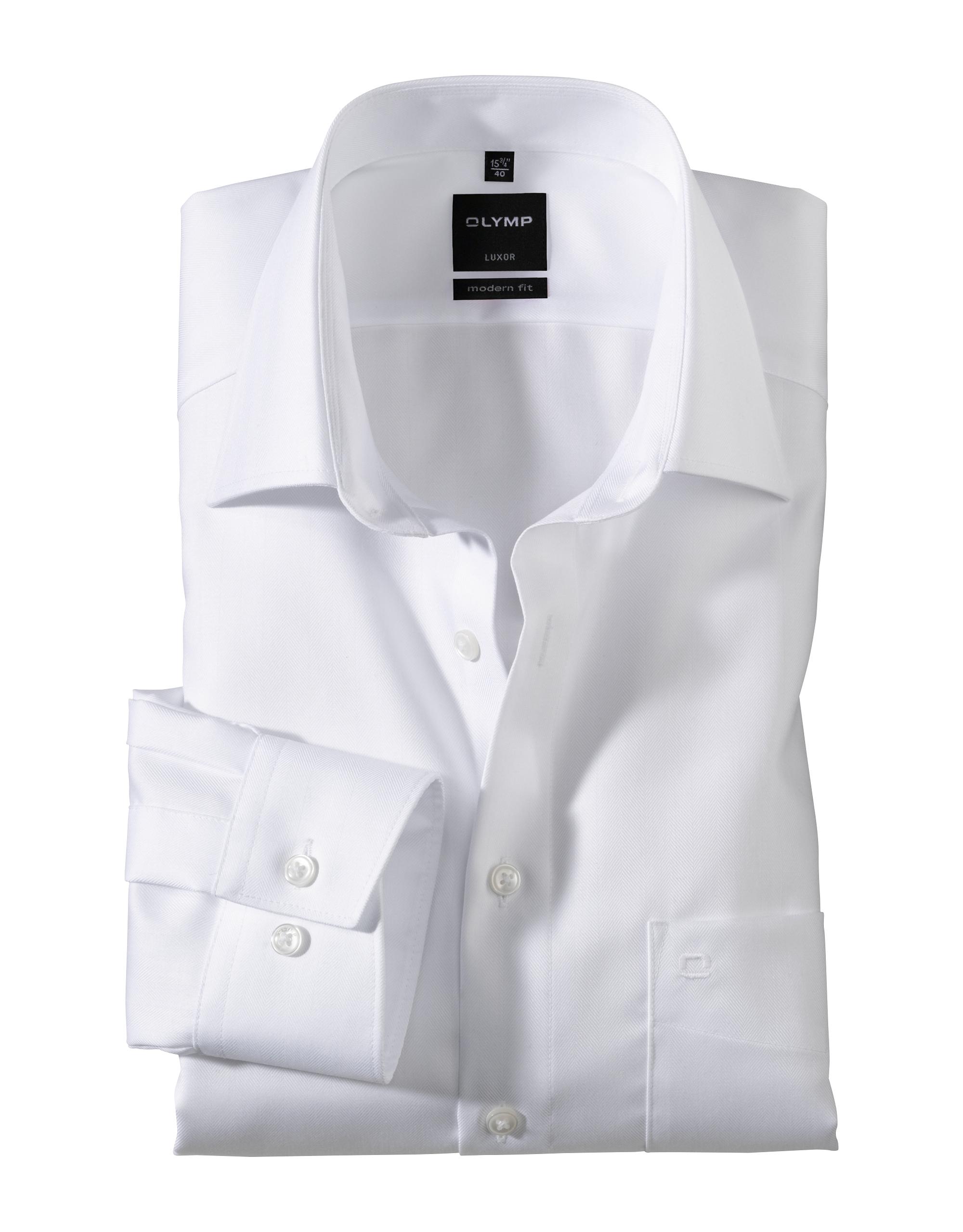 OLYMP Luxor Hemd, modern fit, New Kent, Weiß, 44   Bekleidung > Hemden > Sonstige Hemden   Weiß   100% baumwolle   OLYMP Luxor