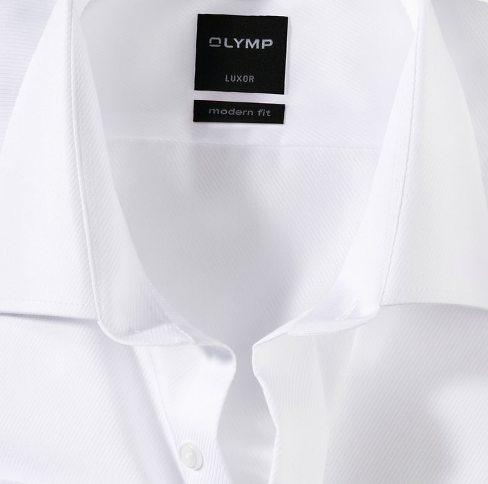 OLYMP Luxor, modern fit, New Kent, Blanc