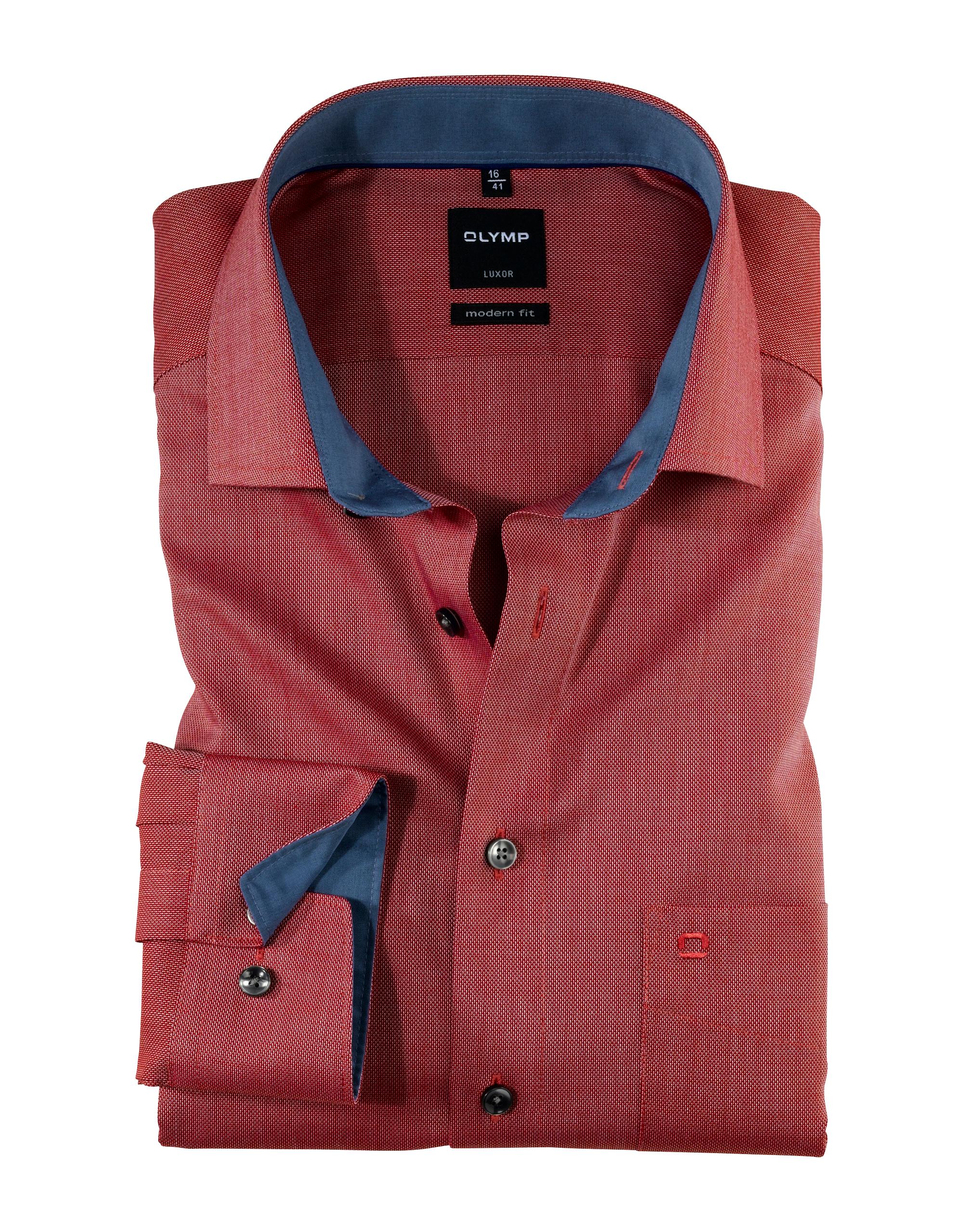OLYMP Luxor Hemd, modern fit, Global Kent, Rot, 48 | Bekleidung > Hemden > Sonstige Hemden | Rot | 100% baumwolle | OLYMP Luxor