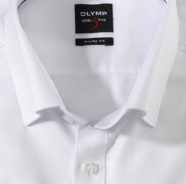OLYMP Level Five, body fit, Businesshemd, Under-Button-down, Weiß