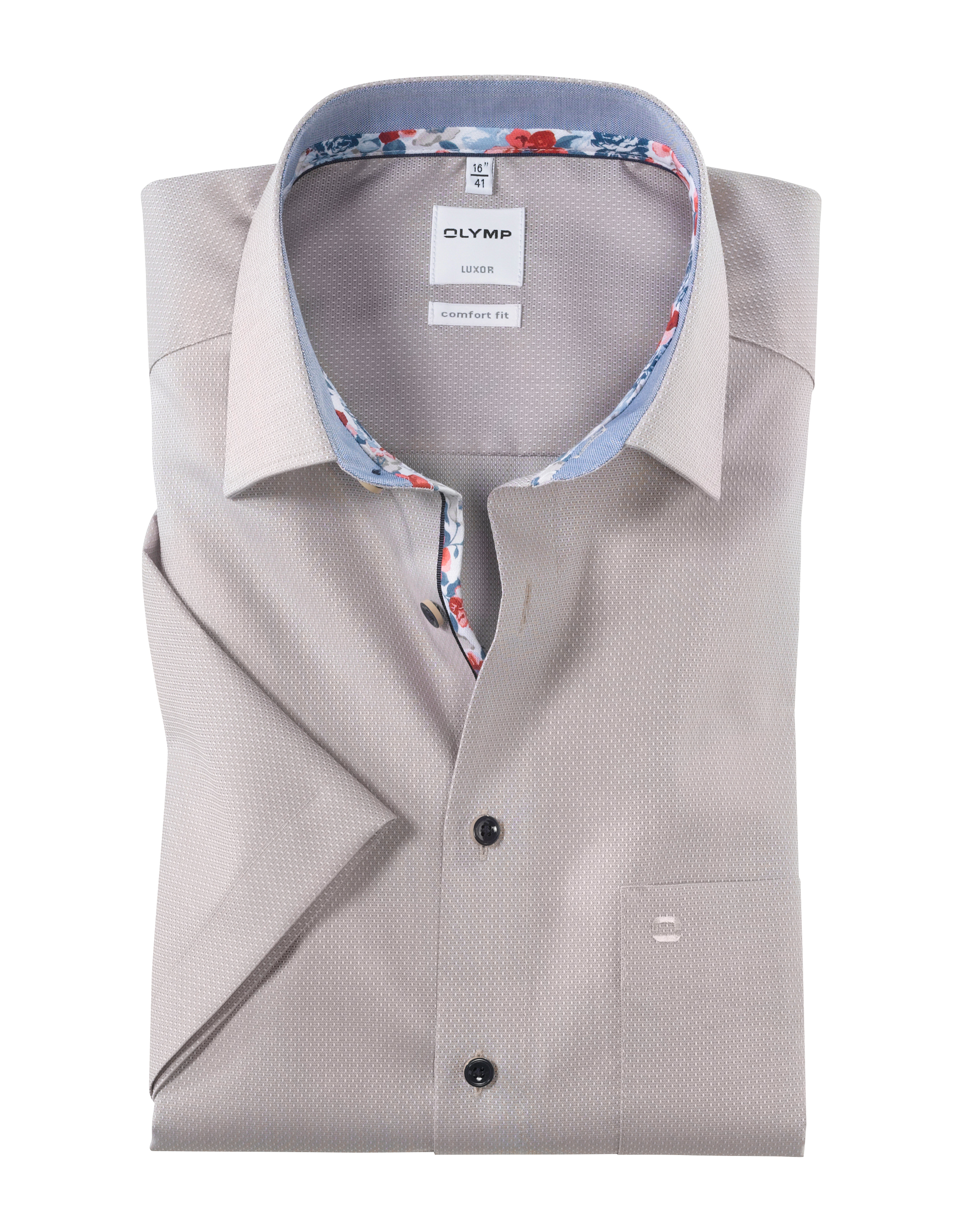 OLYMP Luxor Kurzarmhemd, comfort fit, New Kent, Nougat, 50 | Bekleidung > Hemden > Sonstige Hemden | Nougat | Baumwolle | OLYMP Luxor