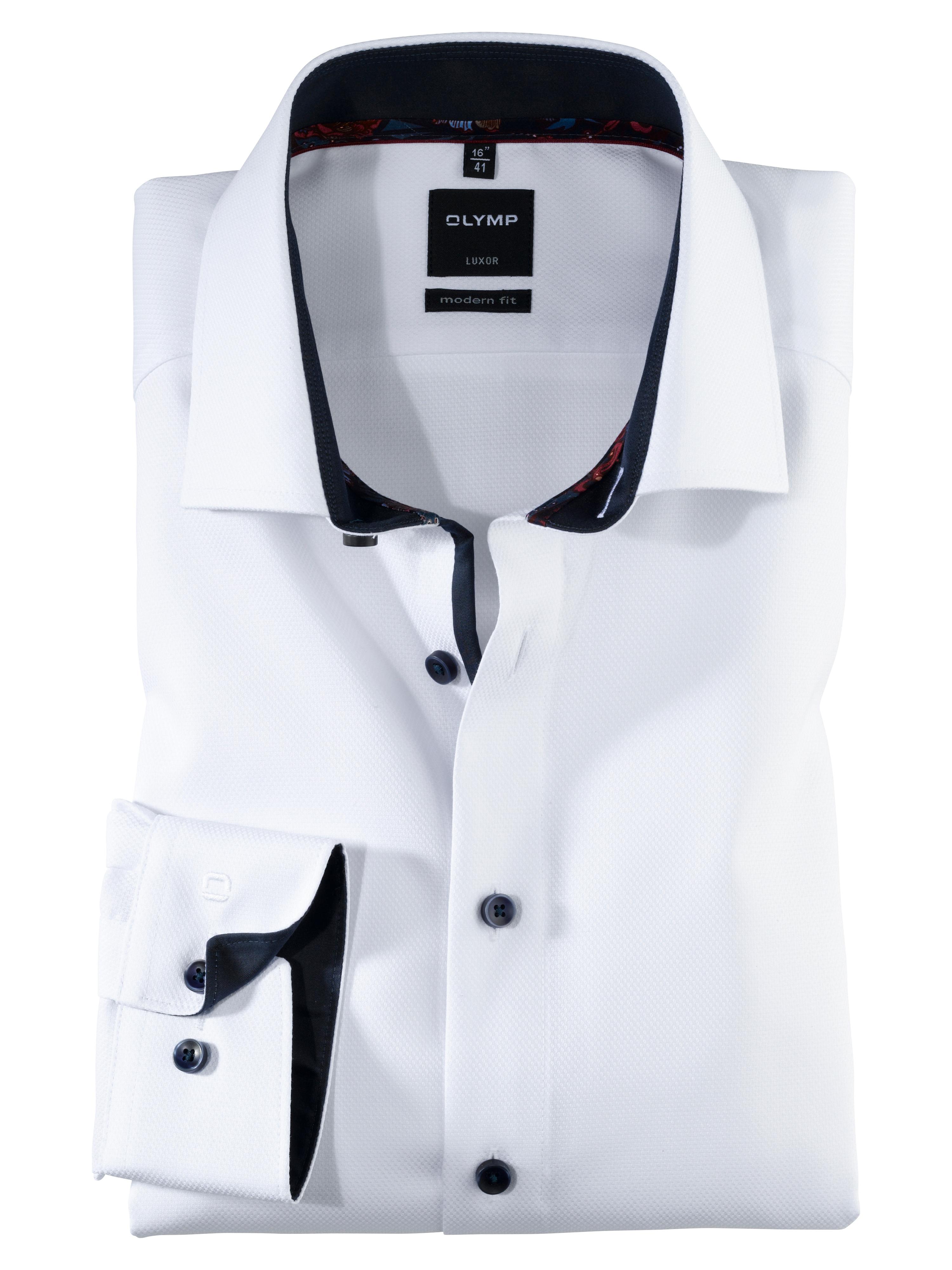 OLYMP Luxor Hemd, modern fit, Extra kurzer Arm, Weiß, 47   Bekleidung > Hemden > Sonstige Hemden   Weiß   Baumwolle   OLYMP