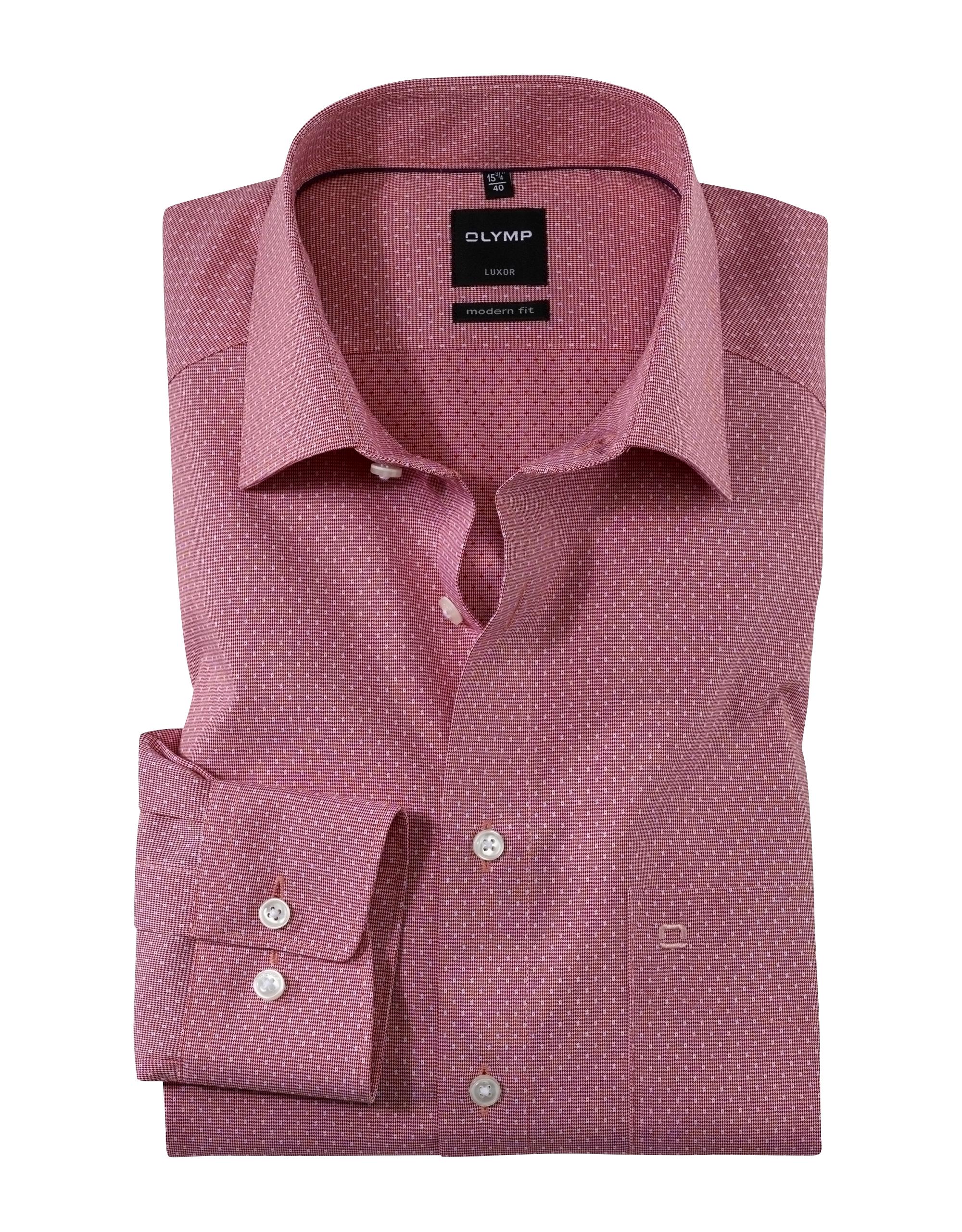 OLYMP Luxor Hemd, modern fit, New Kent, Rot, 40   Bekleidung > Hemden > Sonstige Hemden   Rot   100% baumwolle   OLYMP Luxor