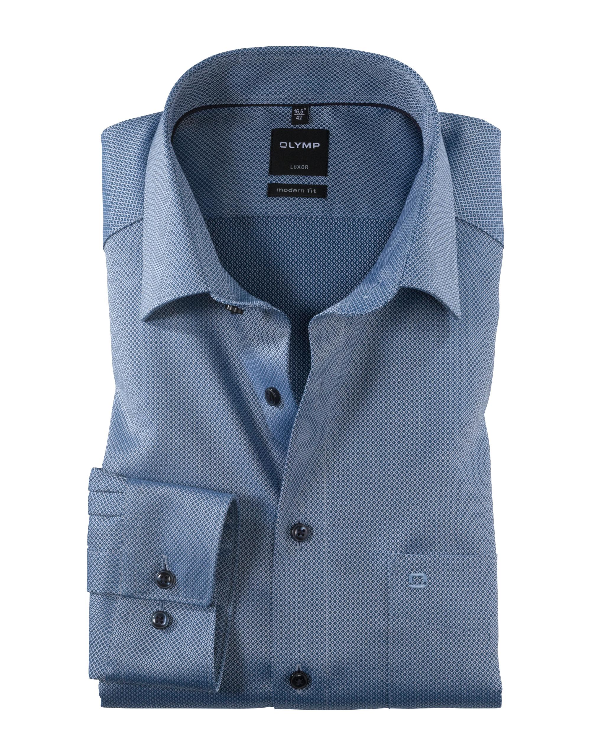 OLYMP Luxor Hemd, modern fit, New Kent, Marine, 42 | Bekleidung > Hemden > Sonstige Hemden | OLYMP