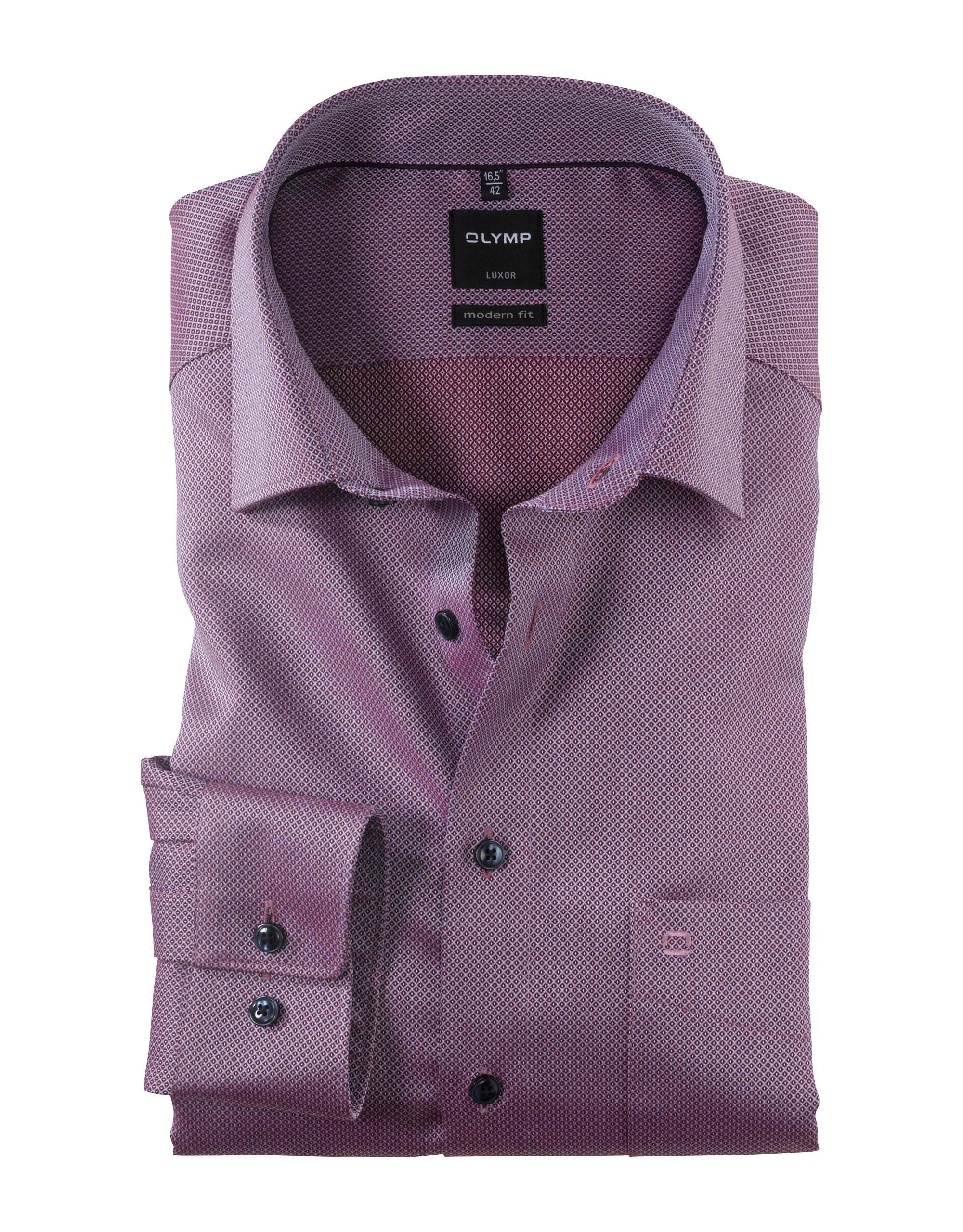 OLYMP Luxor Hemd, modern fit, New Kent, Dunkelrot, 42   Bekleidung > Hemden > Sonstige Hemden   Dunkelrot   Baumwolle   OLYMP