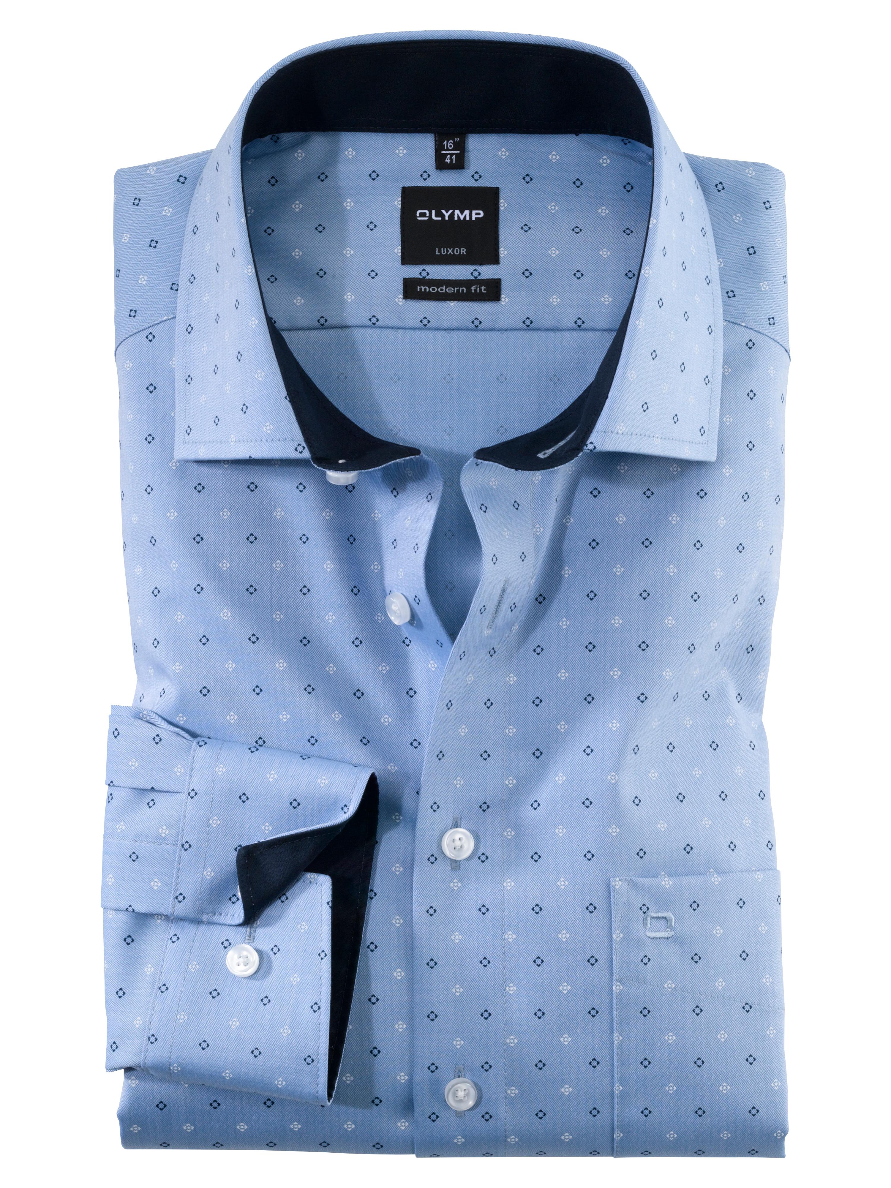 OLYMP Luxor Hemd, modern fit, Global Kent, Bleu, 41   Bekleidung > Hemden > Sonstige Hemden   Baumwolle   OLYMP