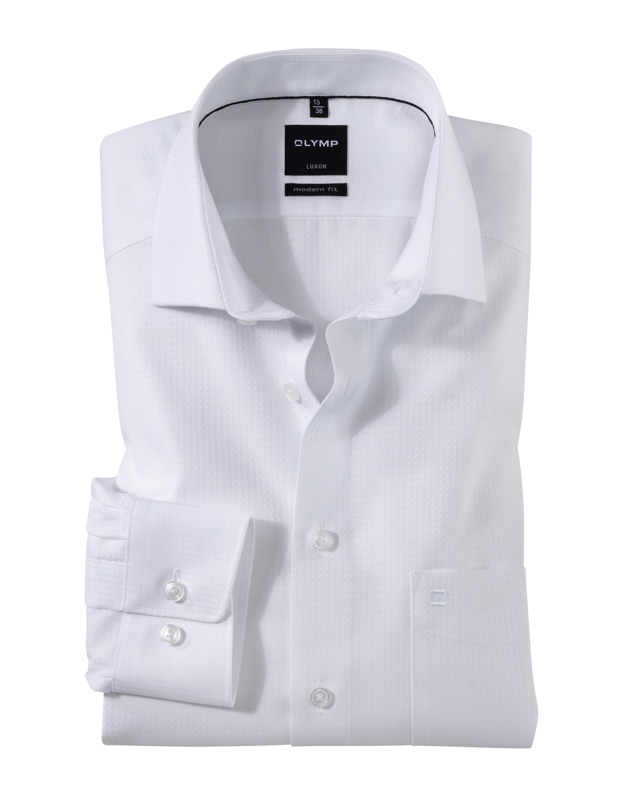 OLYMP Luxor Hemd, modern fit, Extra langer Arm, Weiß, 39 | Bekleidung > Hemden | Weiß | 100% baumwolle | OLYMP Luxor