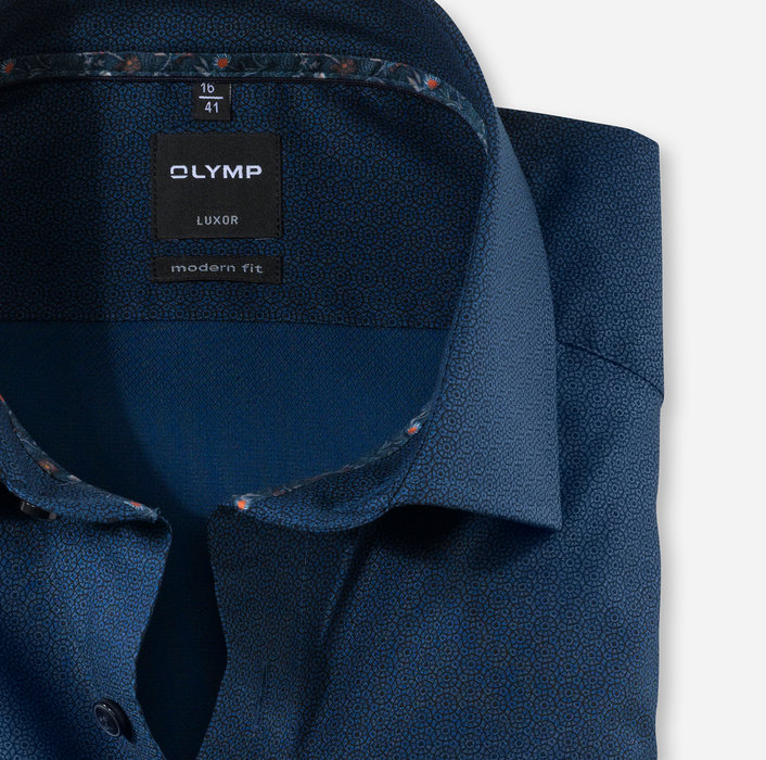 OLYMP Luxor, modern fit, Chemise d'affaires, Global Kent, Marine