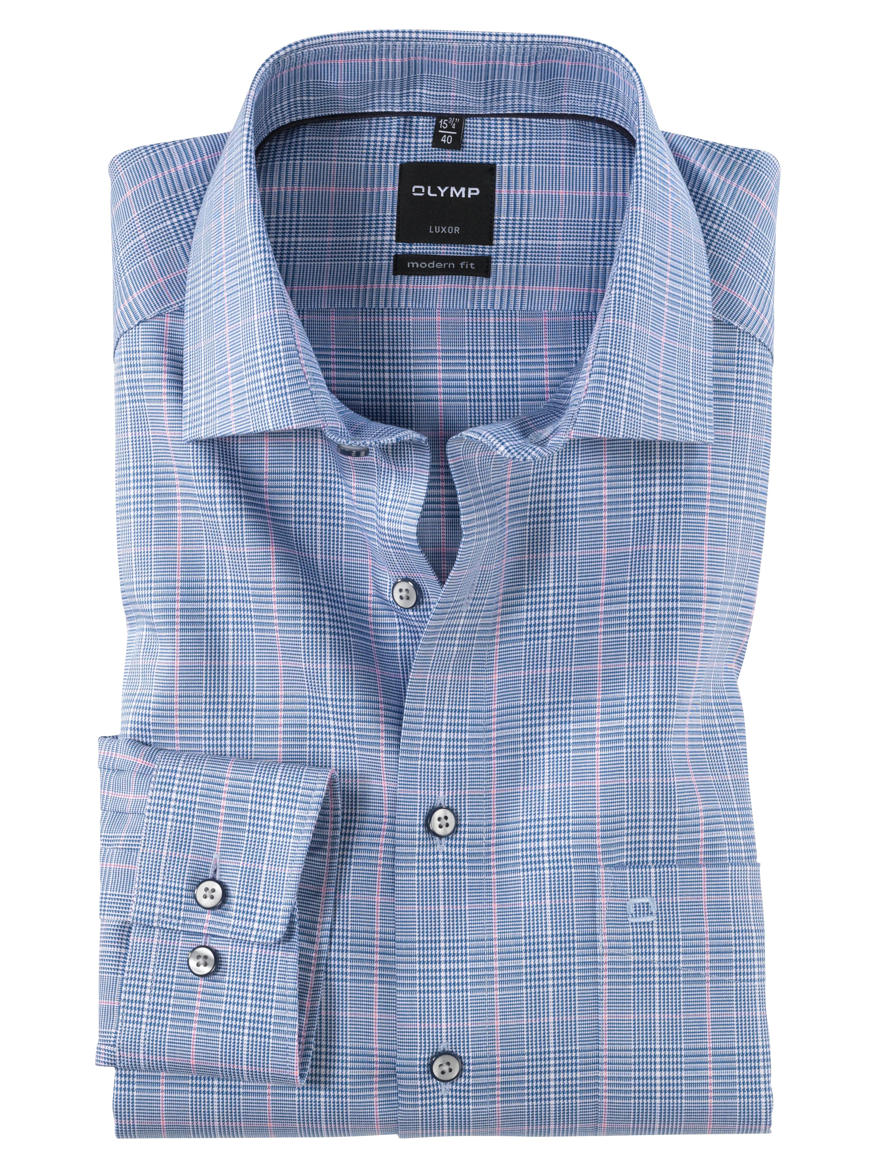 OLYMP Luxor Hemd, modern fit, Global Kent, Royal, 38 | Bekleidung > Hemden > Sonstige Hemden | OLYMP