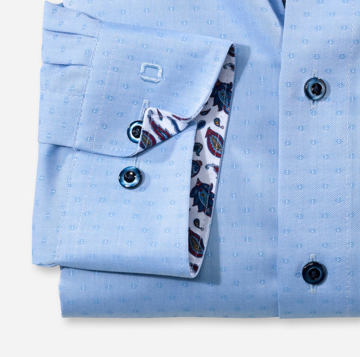 OLYMP Luxor, modern fit, Businesshemd, Under-Button-down, Bleu