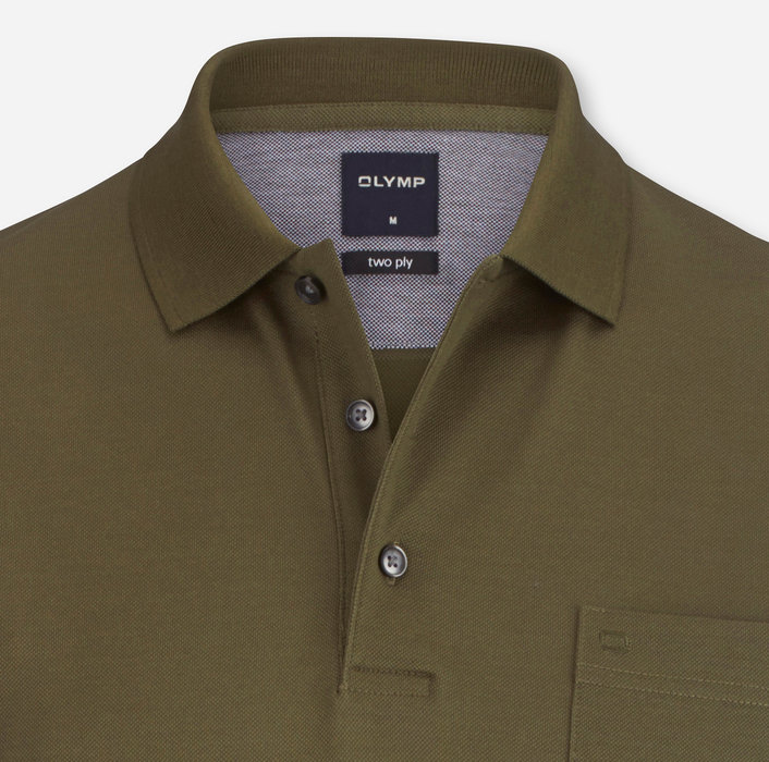 OLYMP Casual Polo, modern fit, Khaki