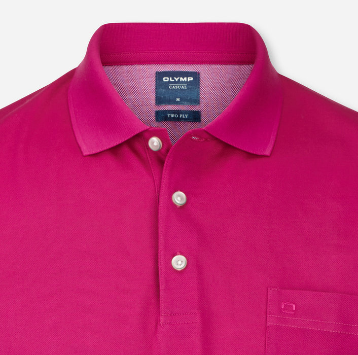 OLYMP Casual Polo, modern fit, Pink