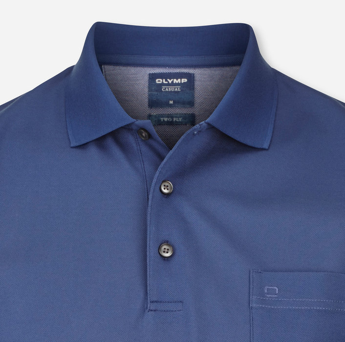 OLYMP Casual Polo, modern fit, Indigo