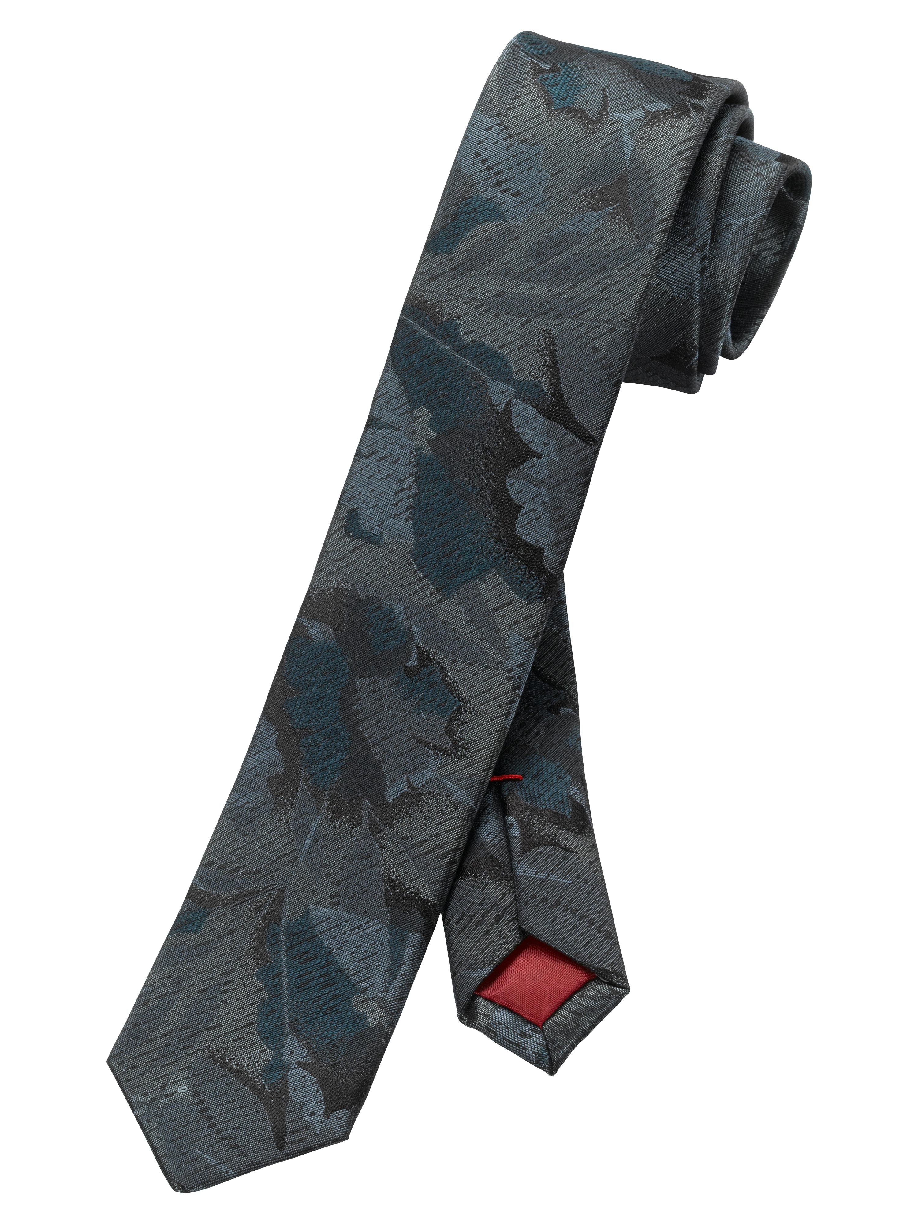 OLYMP  Krawatte, Grau-Grün, | Accessoires > Krawatten > Sonstige Krawatten | Grau - Grün | Seide | OLYMP