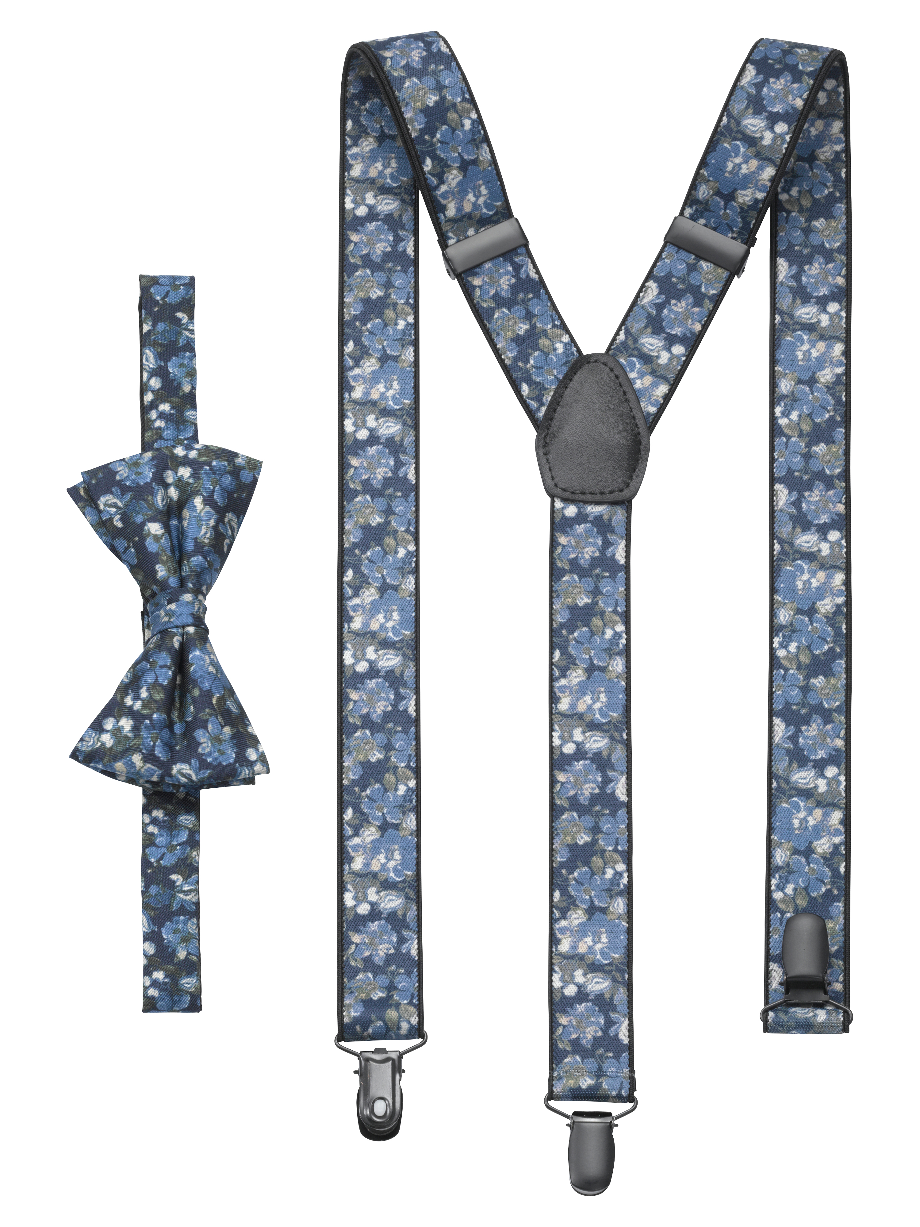 OLYMP Set Hosenträger/Fliege, Marine, 2-teilig | Accessoires > Gürtel > Hosenträger | Marine | Baumwolle | OLYMP Set Hosenträger/Fliege