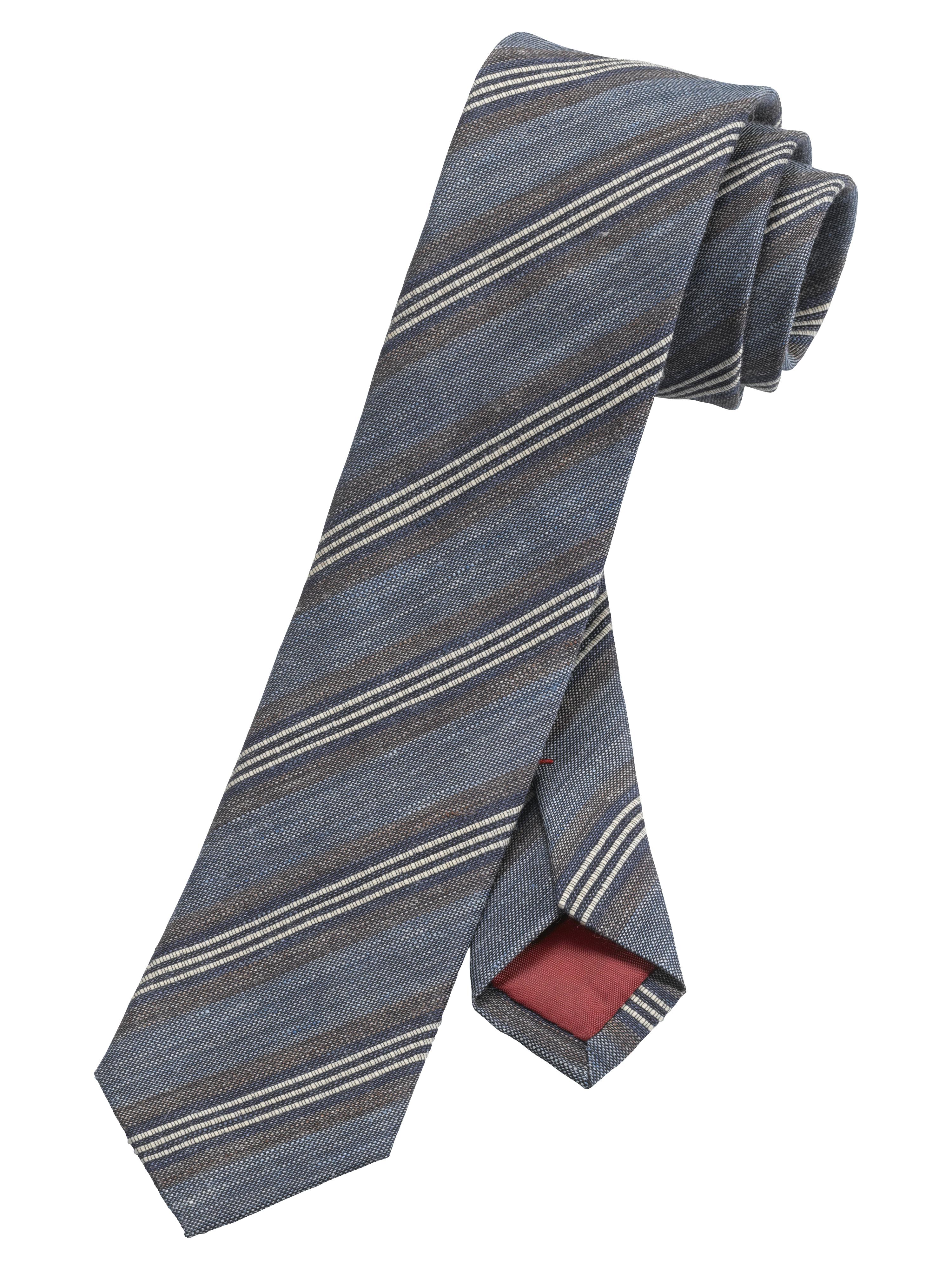 OLYMP Krawatte, Marine, | Accessoires > Krawatten | Marine | 50% leinen/ 40% seide/ 10% baumwolle | OLYMP Krawatte