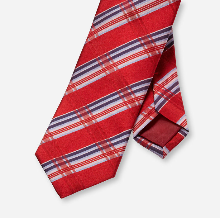 OLYMP Krawatte, slim (6 cm)   Rot - 1753313501