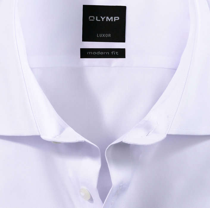 OLYMP Luxor, modern fit, Chemise d'affaires, New Kent, Blanc