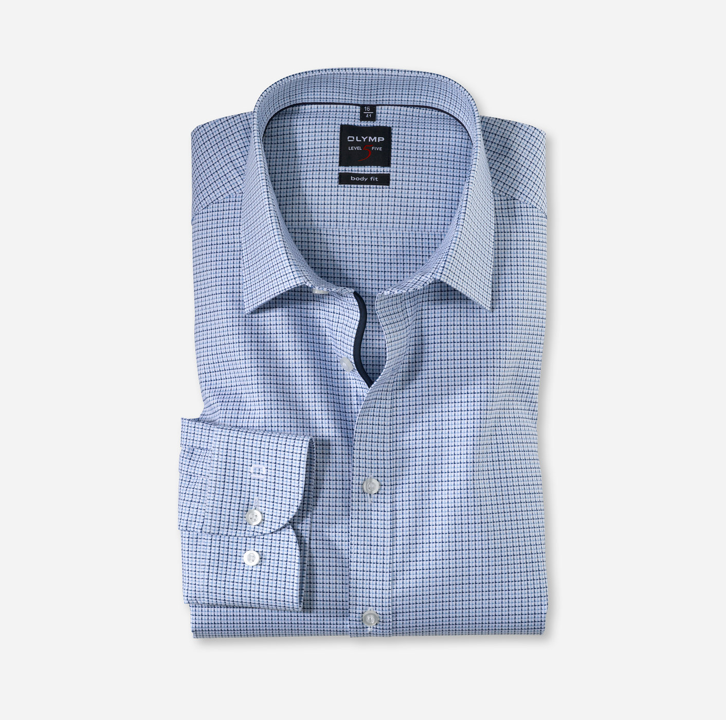 437e66fb OLYMP Level Five body fit Long sleeve extra long New York Kent Bleu ...