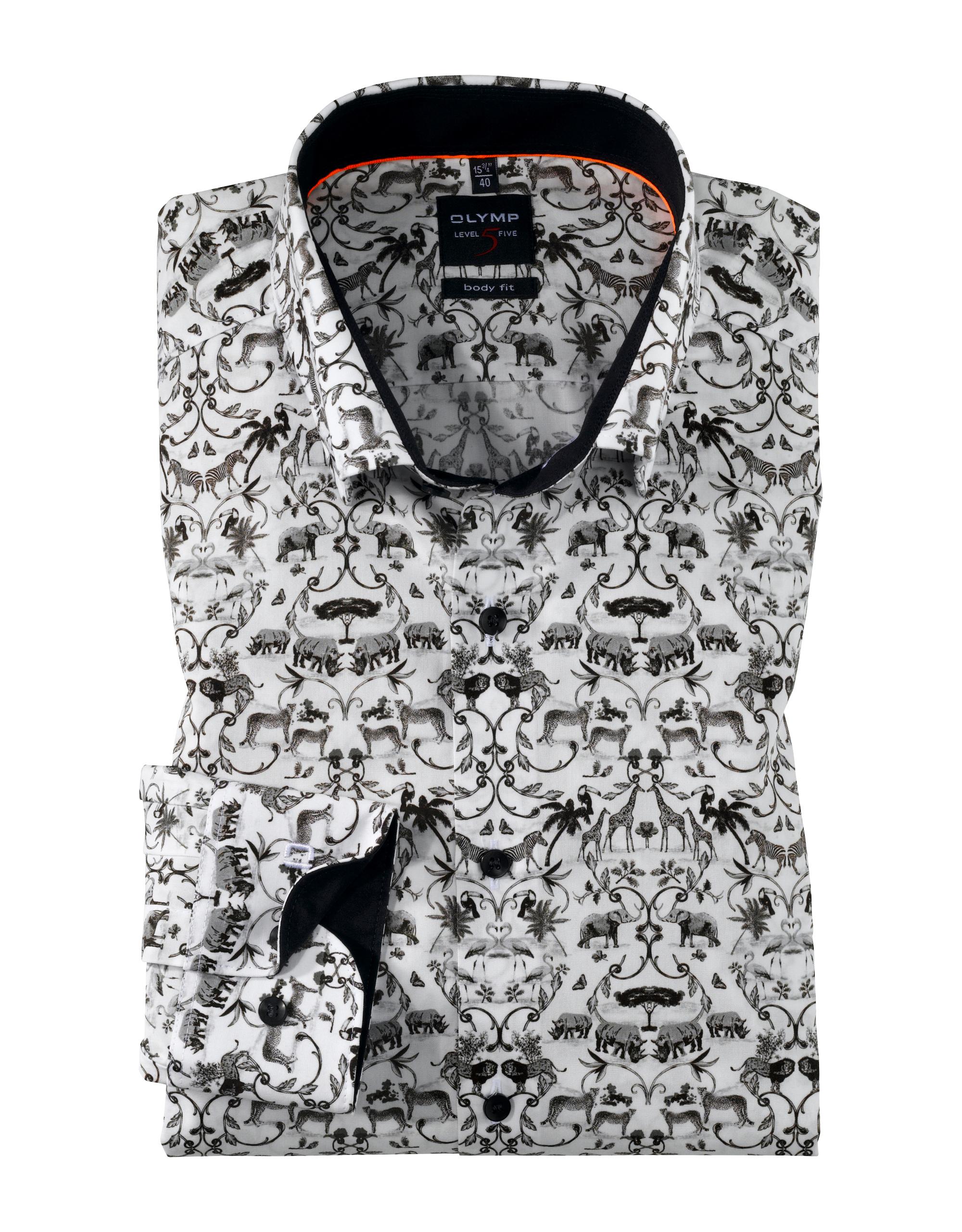 OLYMP Level Five Hemd, body fit, Under-Button-down, Schwarz, 37 | Bekleidung > Hemden > Sonstige Hemden | Schwarz | 100% baumwolle | OLYMP Level Five