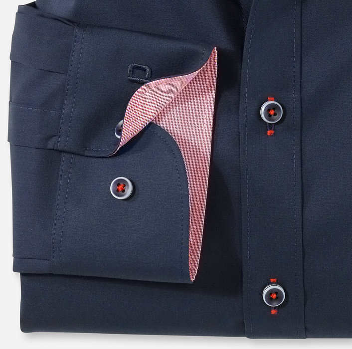 OLYMP Level Five, body fit, Extra langer Arm, Under Button down, Kobalt