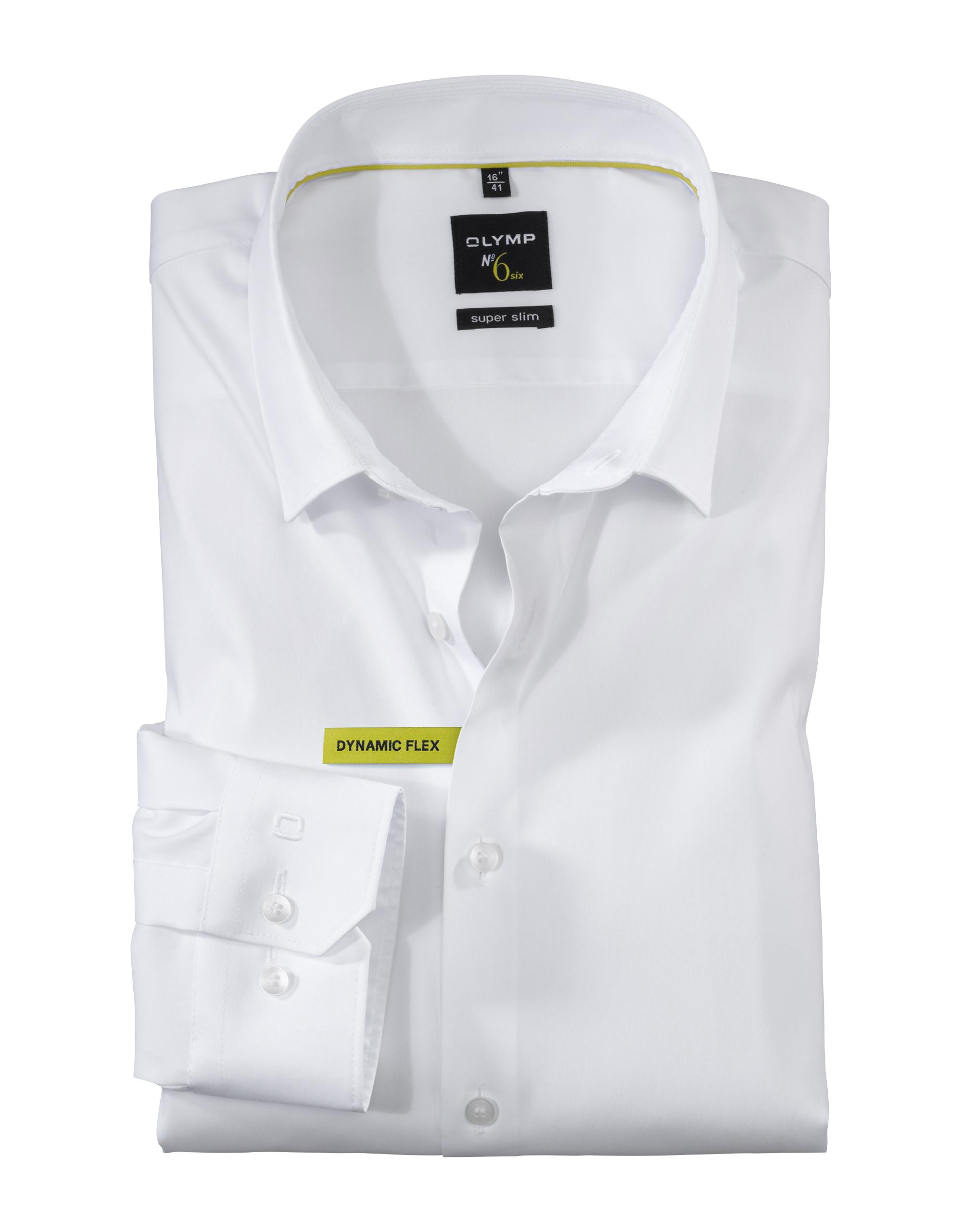 OLYMP No. Six Hemd, super slim, Urban Kent, Weiß, 37 | Bekleidung > Hemden > Sonstige Hemden | Weiß | Baumwolle - Polyamid - Elasthan | OLYMP