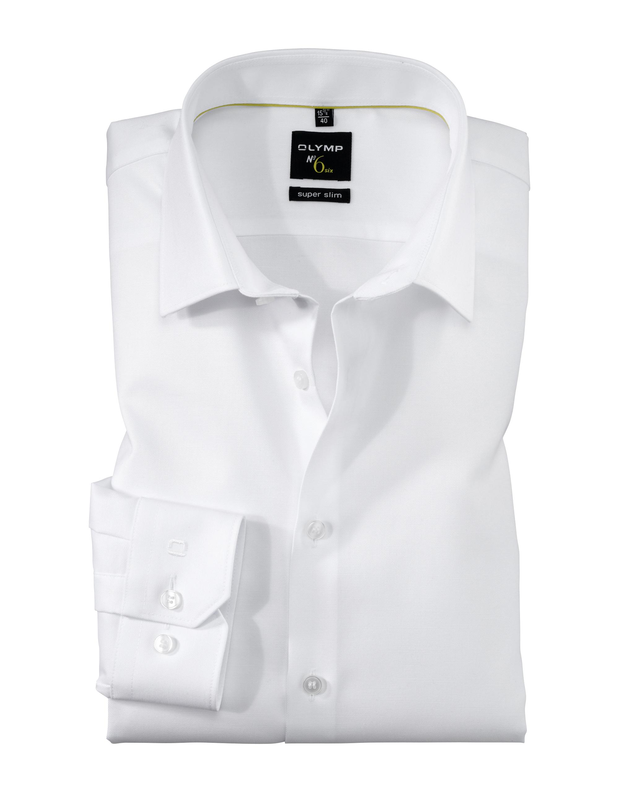 OLYMP No. Six Hemd, super slim, Urban Kent, Weiß, 45 | Bekleidung > Hemden > Sonstige Hemden | Weiß | 97% baumwolle/ 3% elastolefin (xlance) | OLYMP No. Six