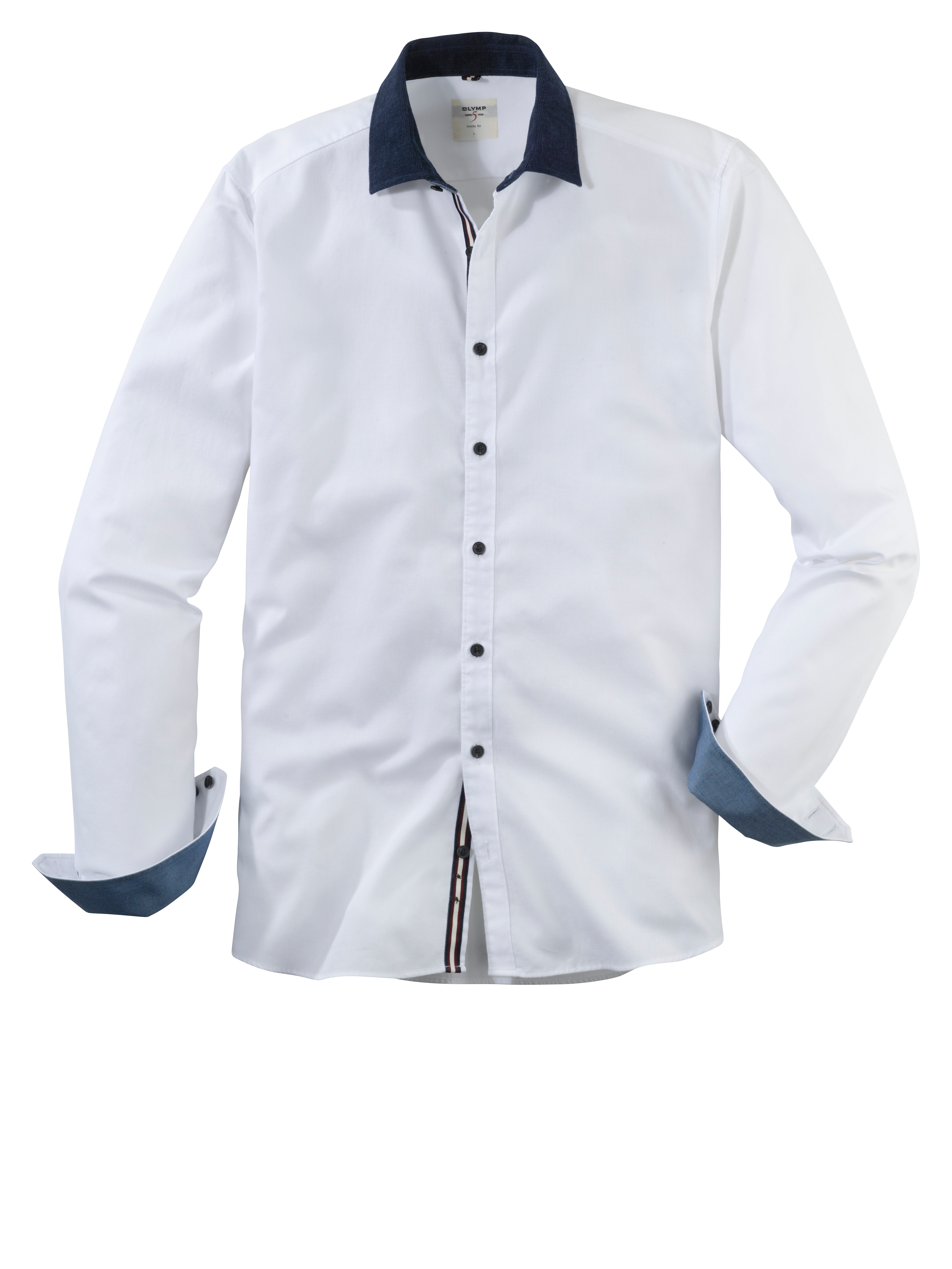 OLYMP Level Five Casual Hemd, body fit, Kent, Weiß, M | Bekleidung > Hemden > Sonstige Hemden | OLYMP