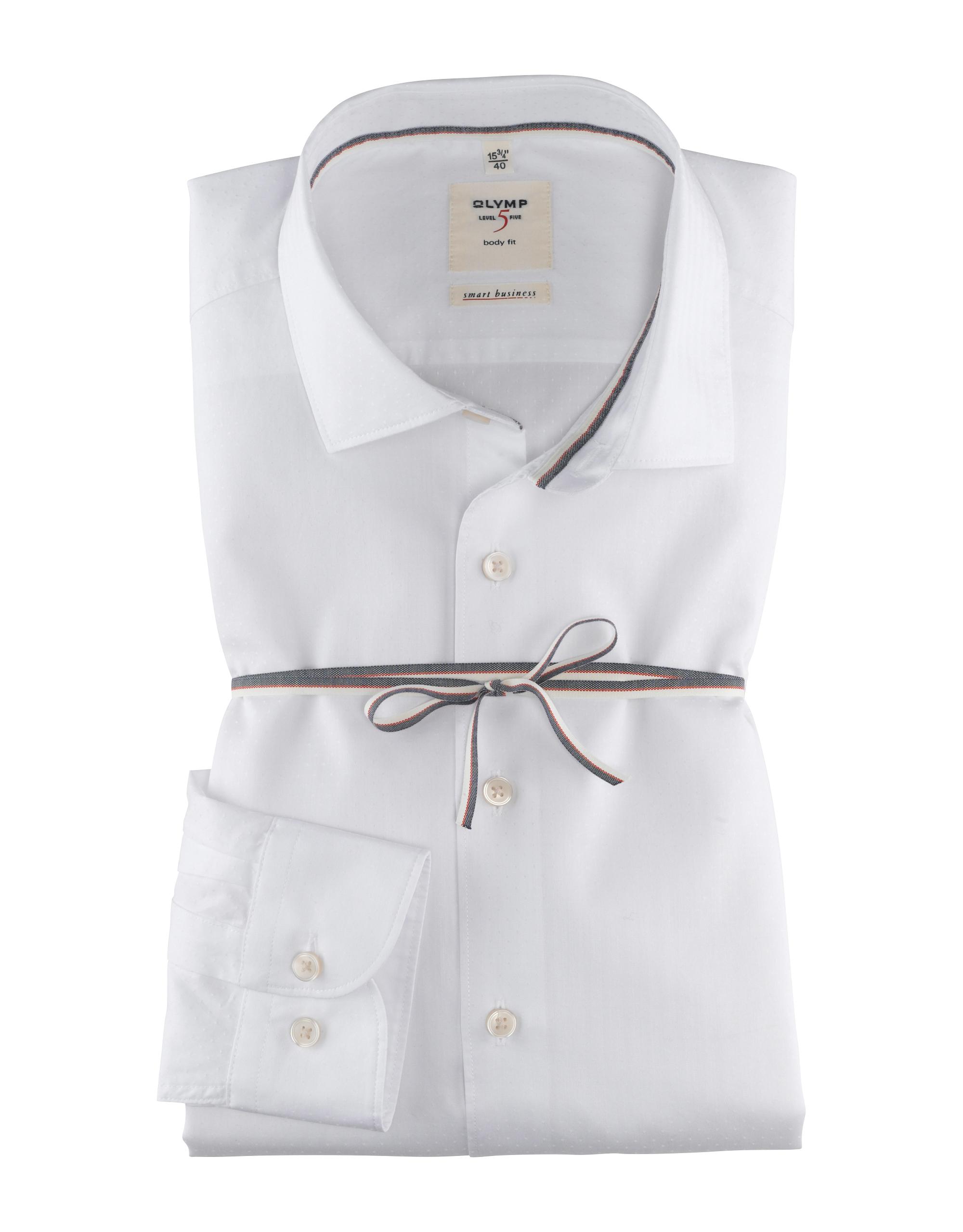 OLYMP Level Five Smart Business Hemd, body fit, Kent, Weiß, 39   Bekleidung > Hemden > Business Hemden   Weiß   Baumwolle   OLYMP