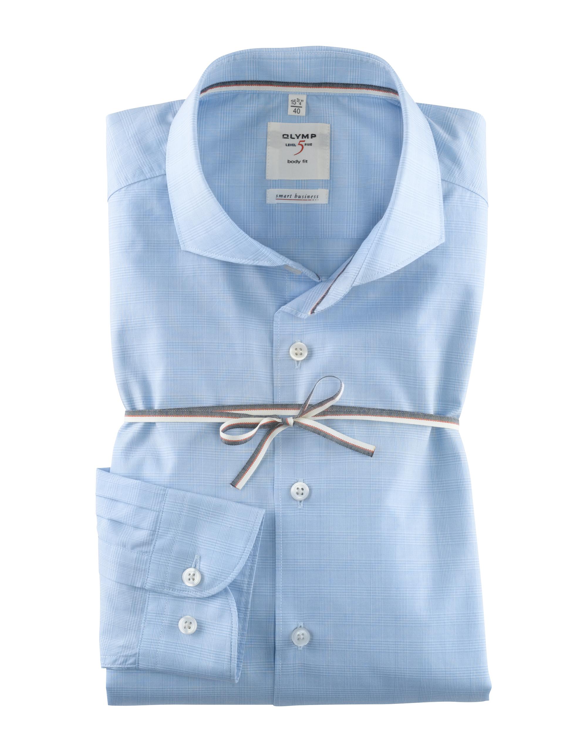 OLYMP Level Five Smart Business Hemd, body fit, Extra langer Arm, Bleu, 39 | Bekleidung > Hemden > Business Hemden | Bleu | 100% baumwolle | OLYMP Level Five Smart Business