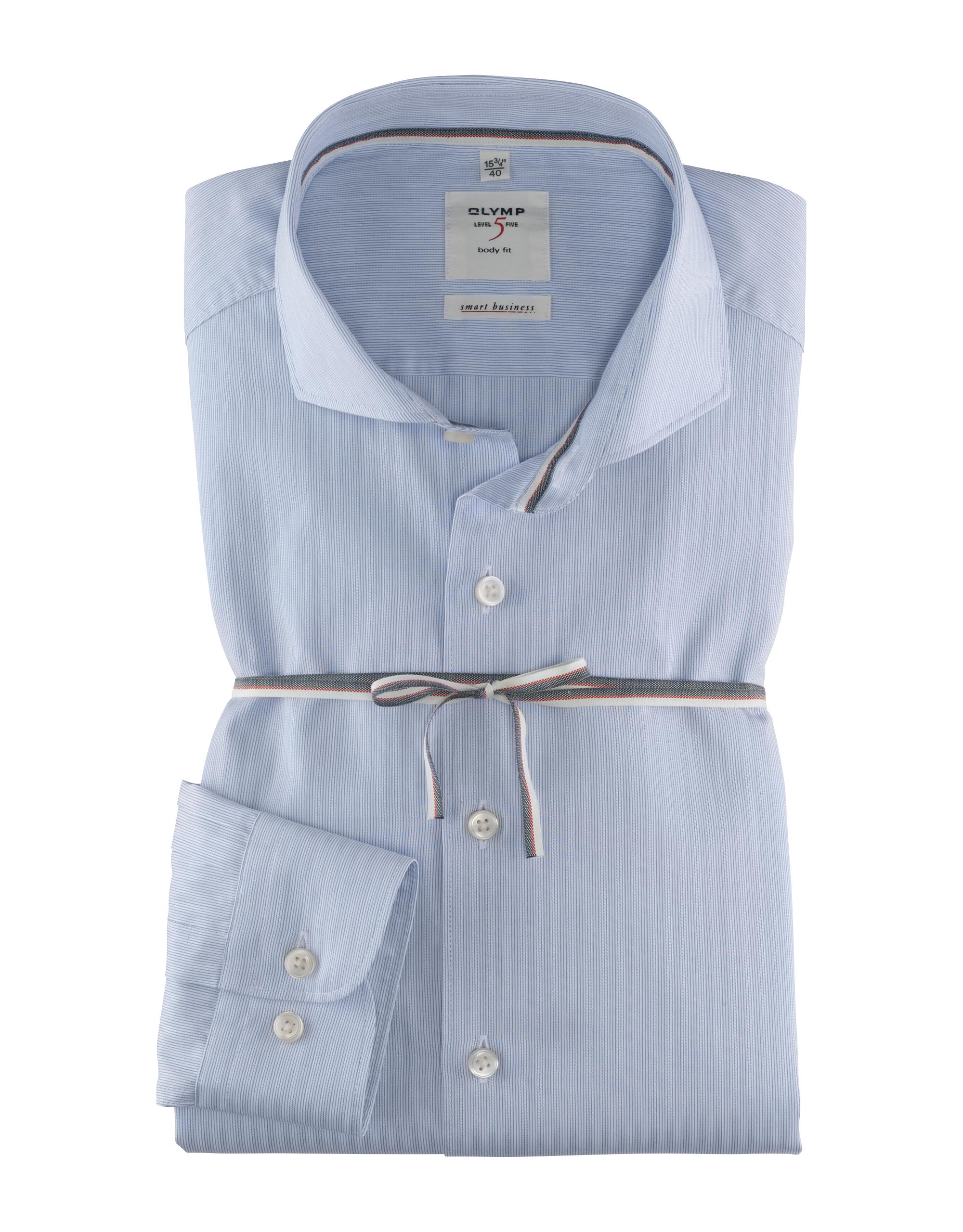 OLYMP Level Five Smart Business Hemd, body fit, Haifisch, Bleu, 43 | Bekleidung > Hemden > Business Hemden | Bleu | 100% baumwolle | OLYMP Level Five Smart Business