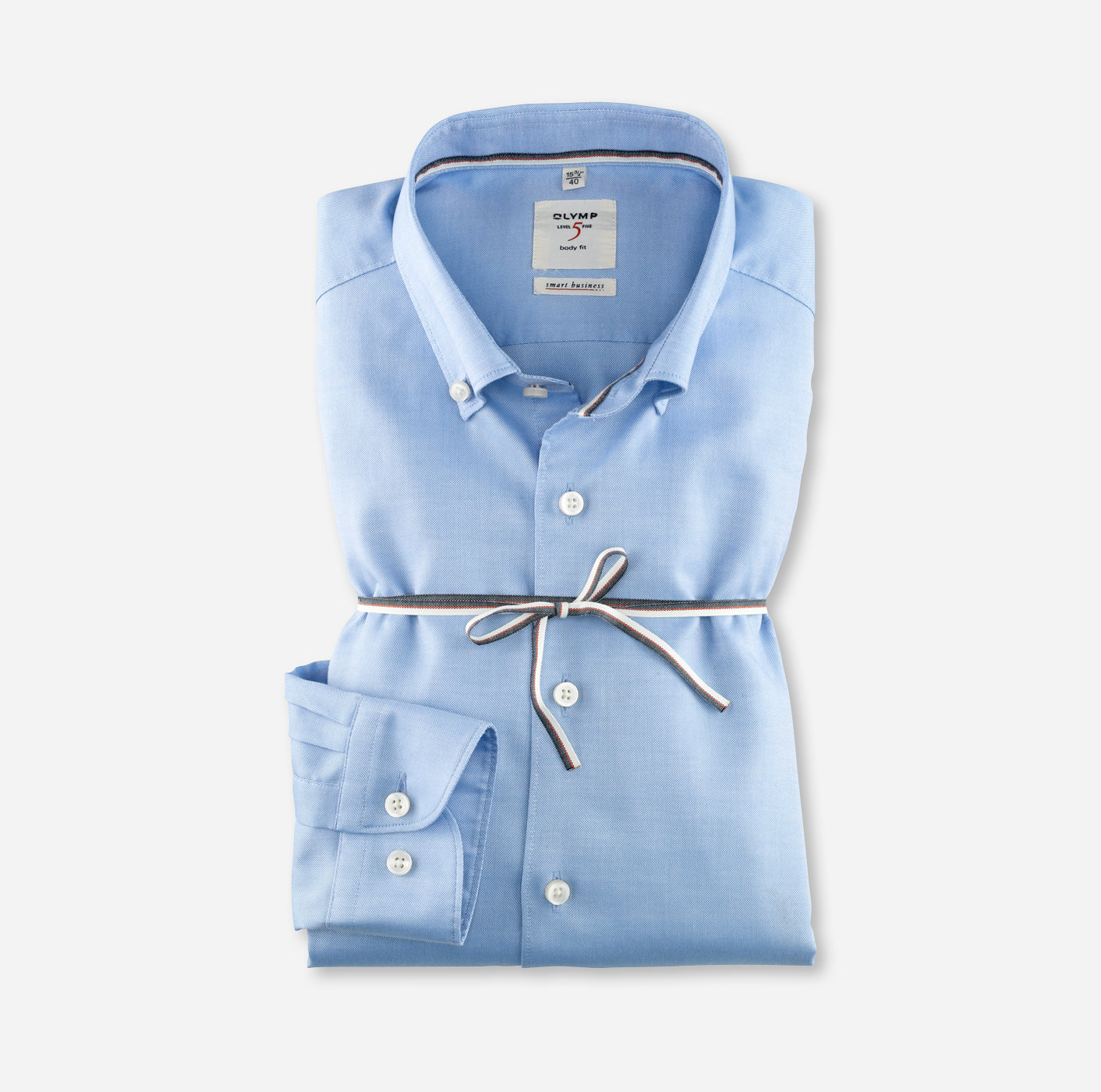 f7565acc OLYMP Level Five Smart Business body fit Button-down Bleu - 35242411