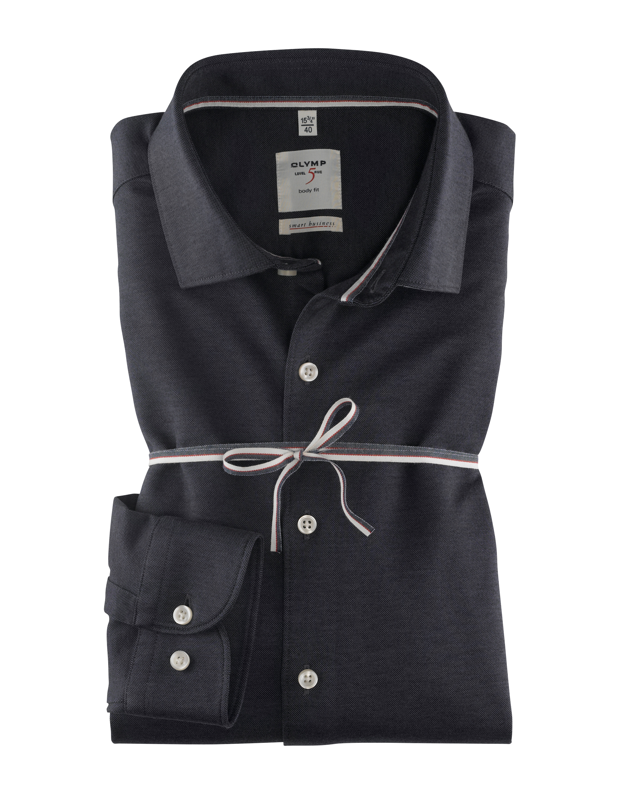 OLYMP Level Five Smart Business Hemd, body fit, Kent, Schwarz, 39   Bekleidung > Hemden > Business Hemden   Schwarz   Baumwolle   OLYMP