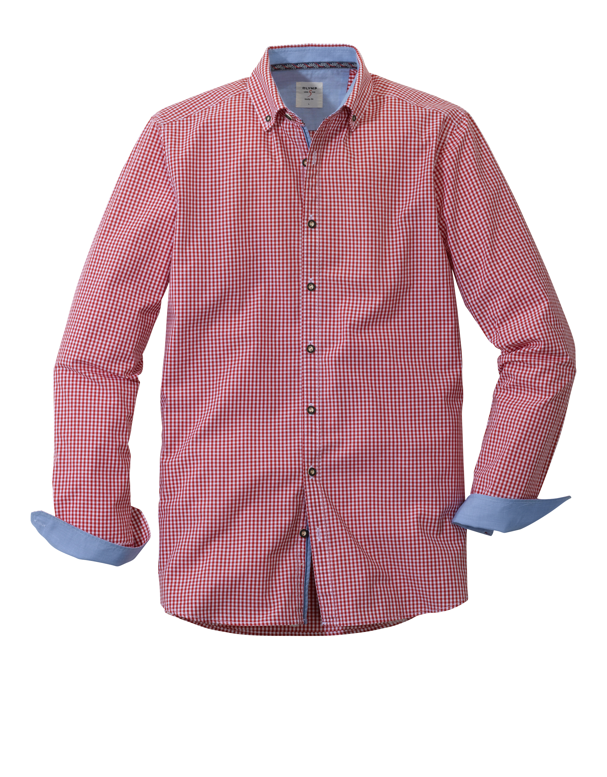 OLYMP Trachtenhemd, body fit, Button-down, Rot, M | Bekleidung > Hemden > Trachtenhemden | OLYMP