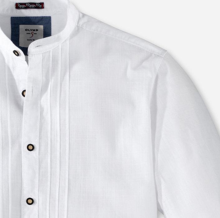 schöne Schuhe attraktiv und langlebig echt kaufen OLYMP Trachtenhemd, body fit, Stehbund, Weiß