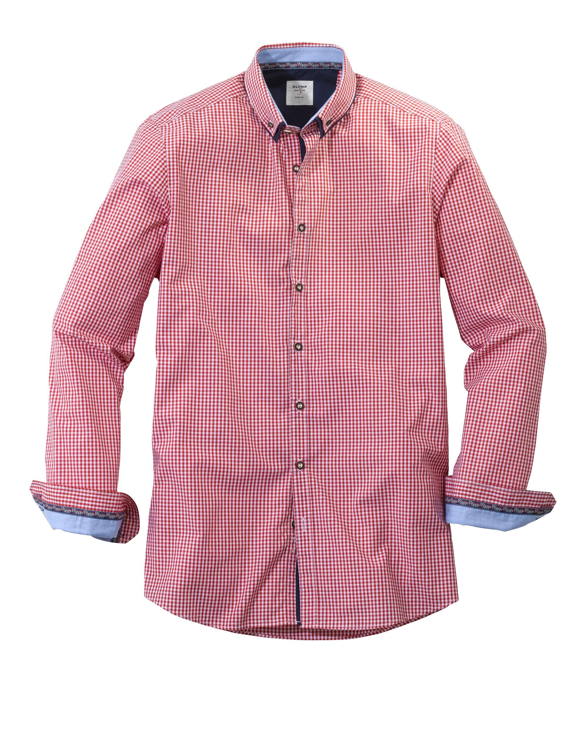 OLYMP Trachtenhemd, body fit, Button-down, Rot, XXL | Bekleidung > Hemden > Trachtenhemden | OLYMP