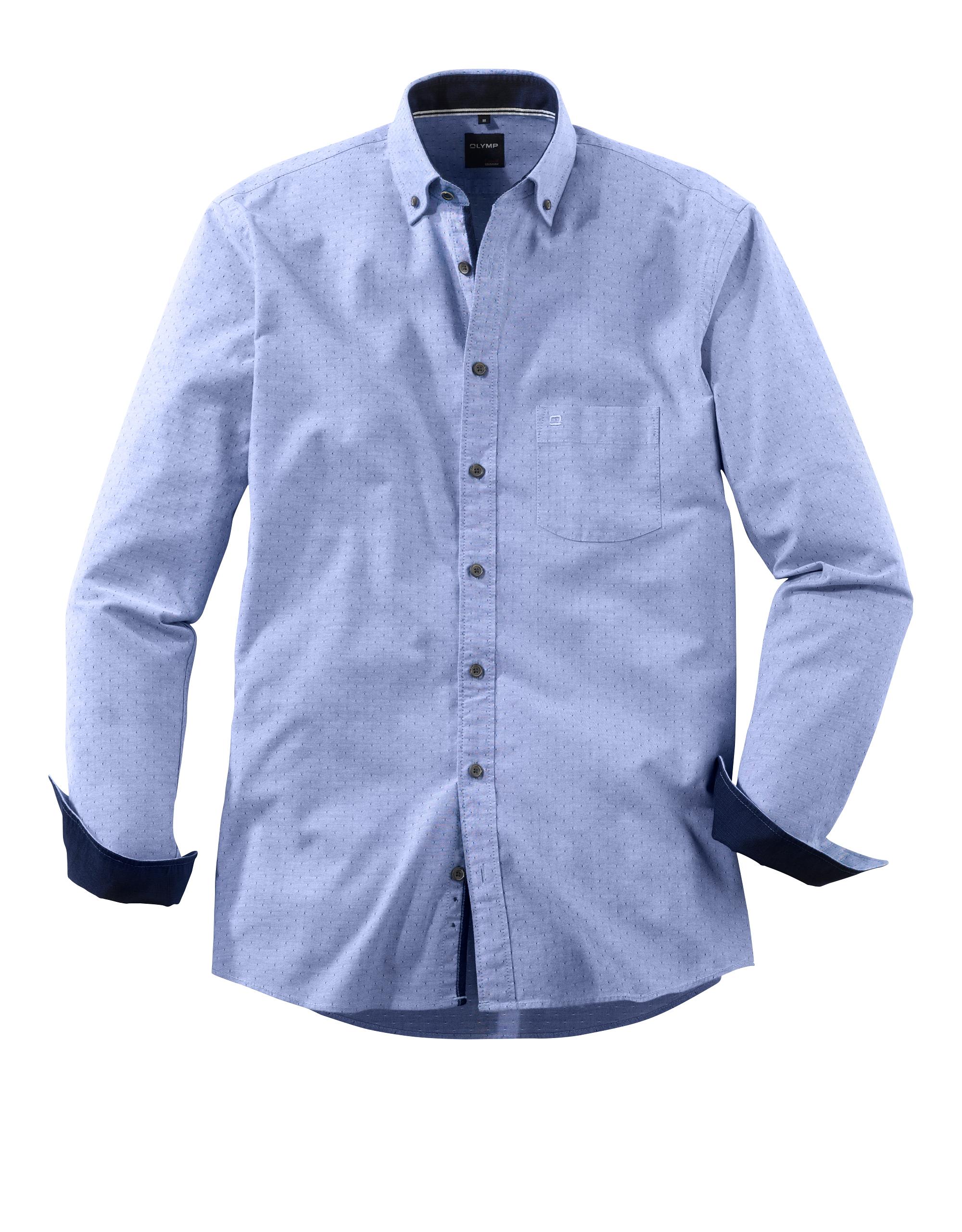OLYMP Casual Hemd, modern fit, Button-down, Marine, XXL | Bekleidung > Hemden > Sonstige Hemden | Marine | 100% baumwolle | OLYMP Casual