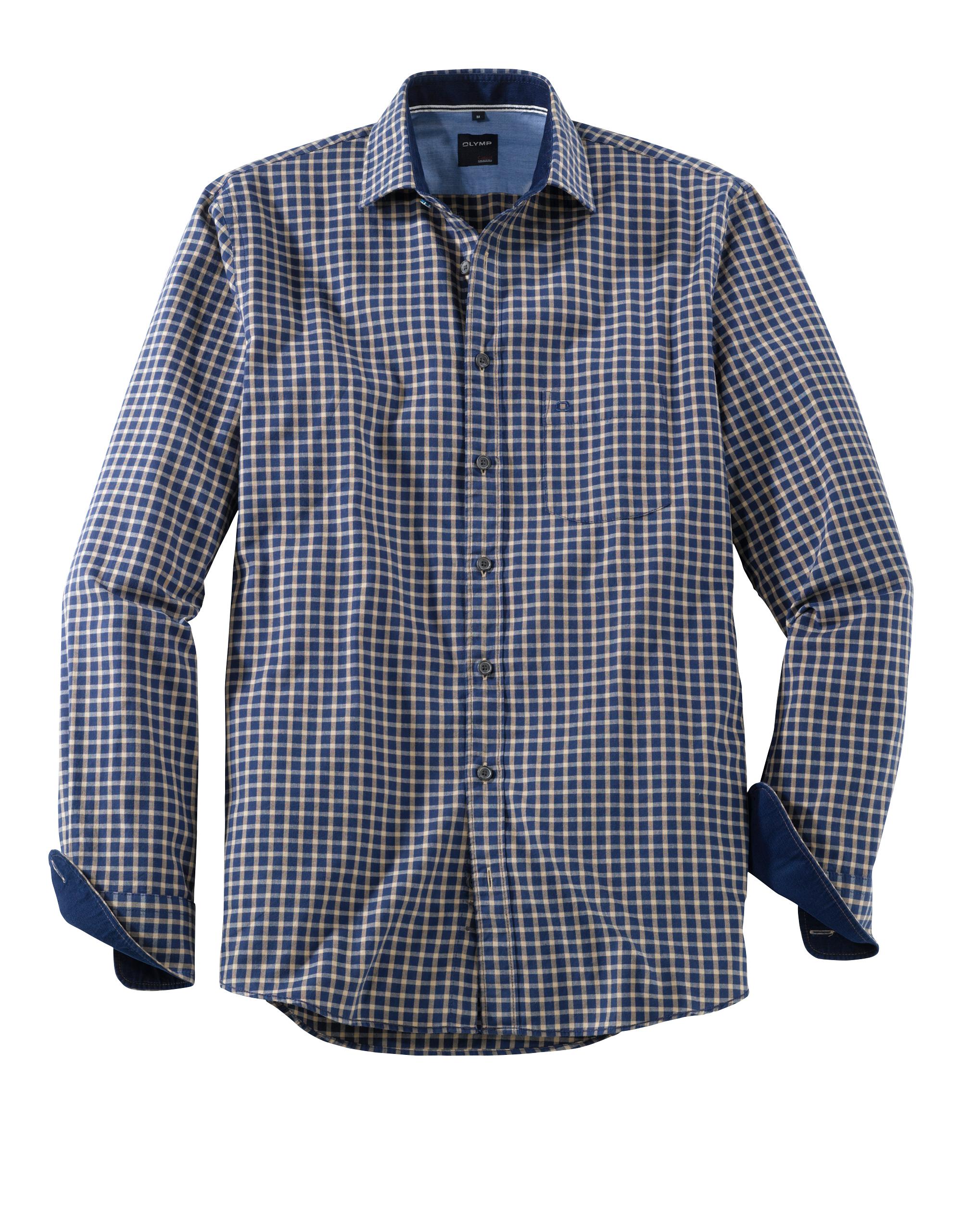 OLYMP Casual Hemd, modern fit, Kent, Braun, S   Bekleidung > Hemden > Sonstige Hemden   Braun   100% baumwolle   OLYMP Casual