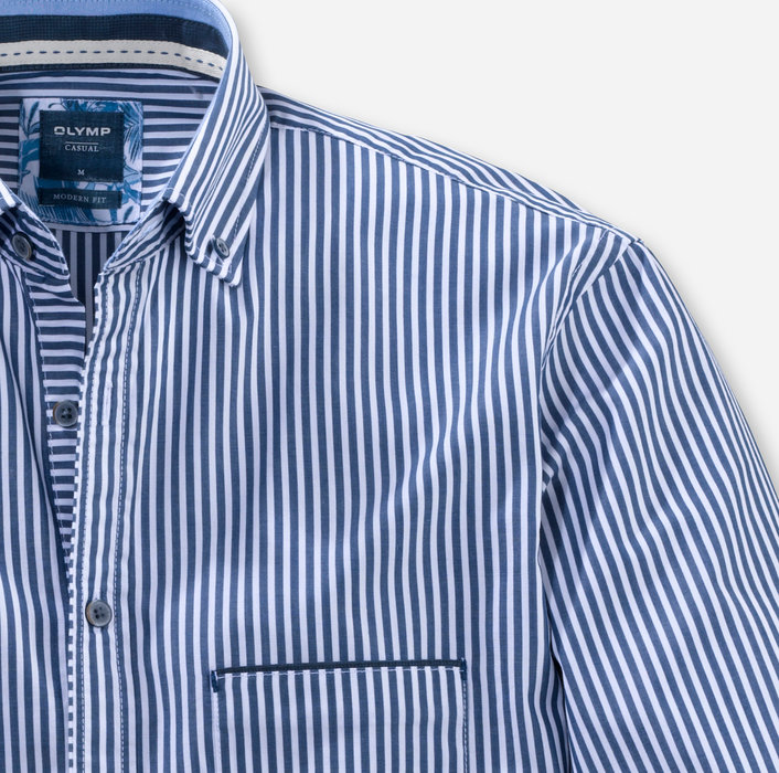OLYMP Casual, modern fit, Freizeithemd, Button-down, Marine
