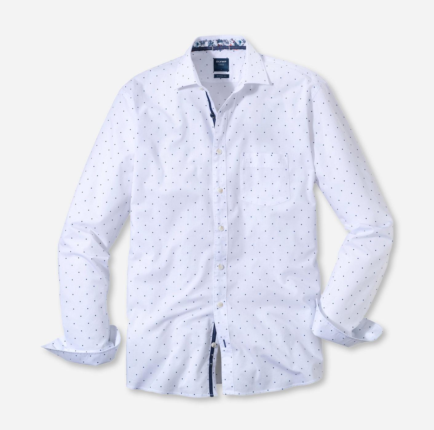 8c904bdf4616 OLYMP Casual modern fit Kent White - 40153400