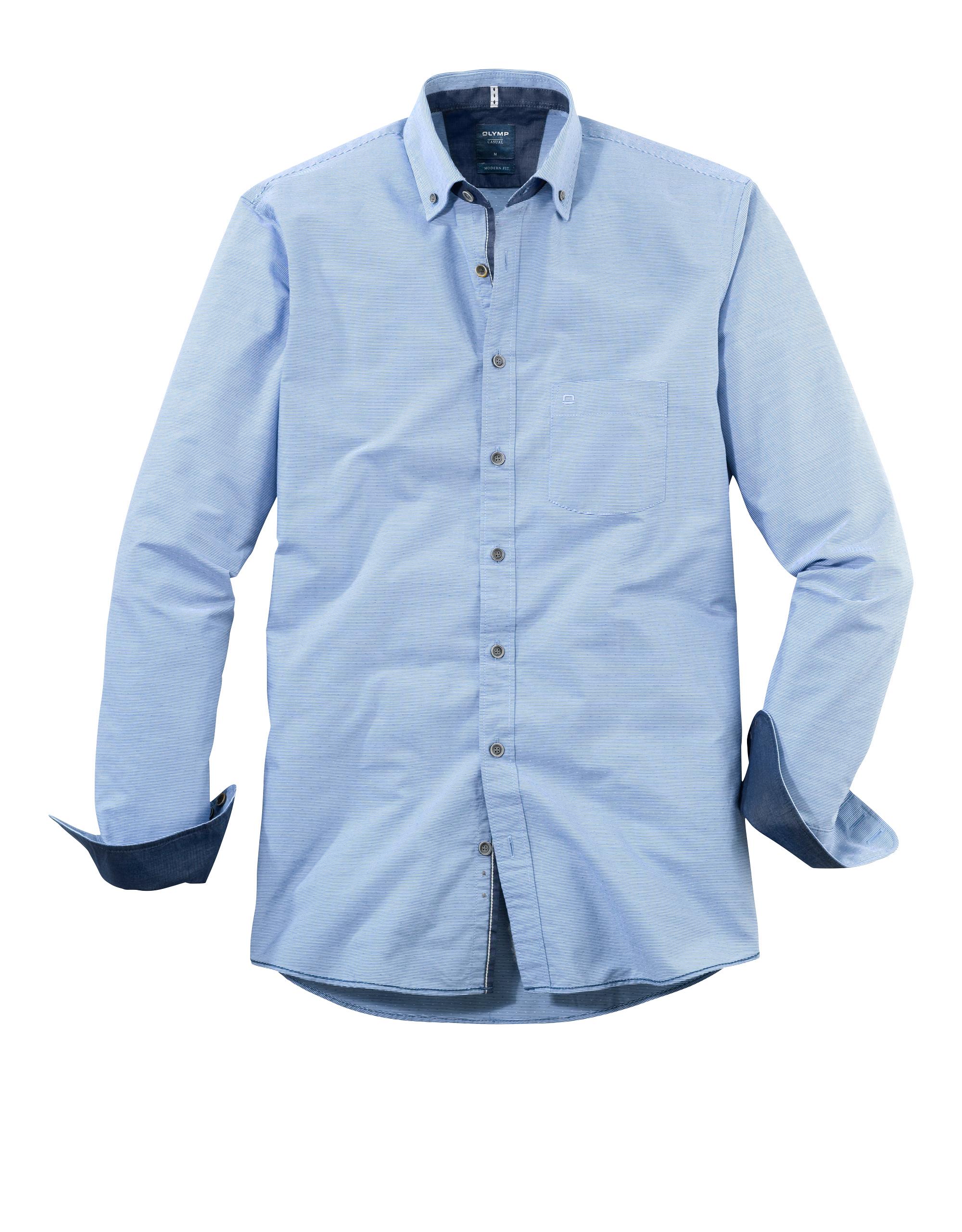 OLYMP Casual Hemd, modern fit, Button-down, Marine, L   Bekleidung > Hemden > Sonstige Hemden   Baumwolle   OLYMP