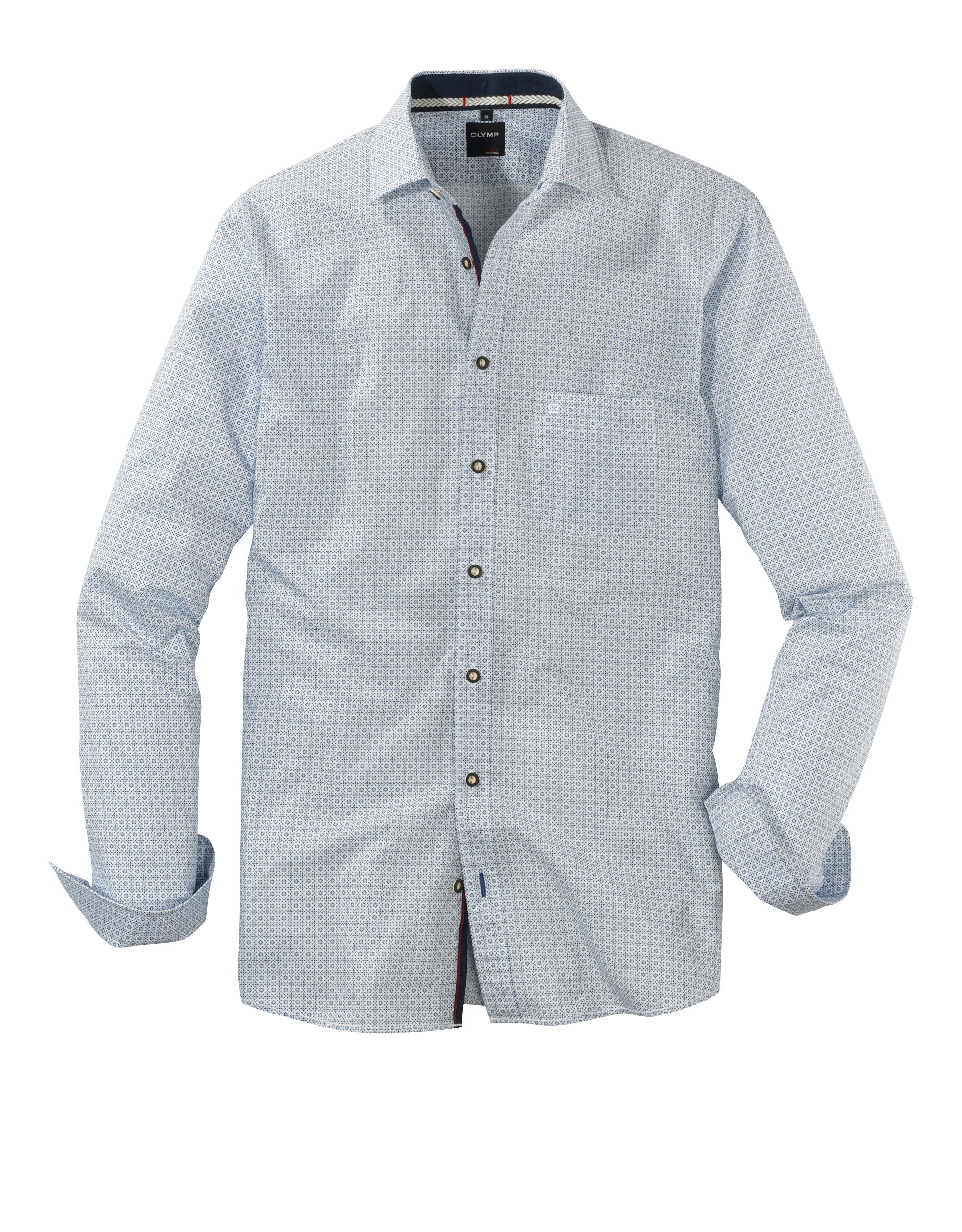 OLYMP Trachtenhemd, modern fit, Kent, Blau, M | Bekleidung > Hemden > Trachtenhemden | Blau | 100% baumwolle | OLYMP Trachtenhemd