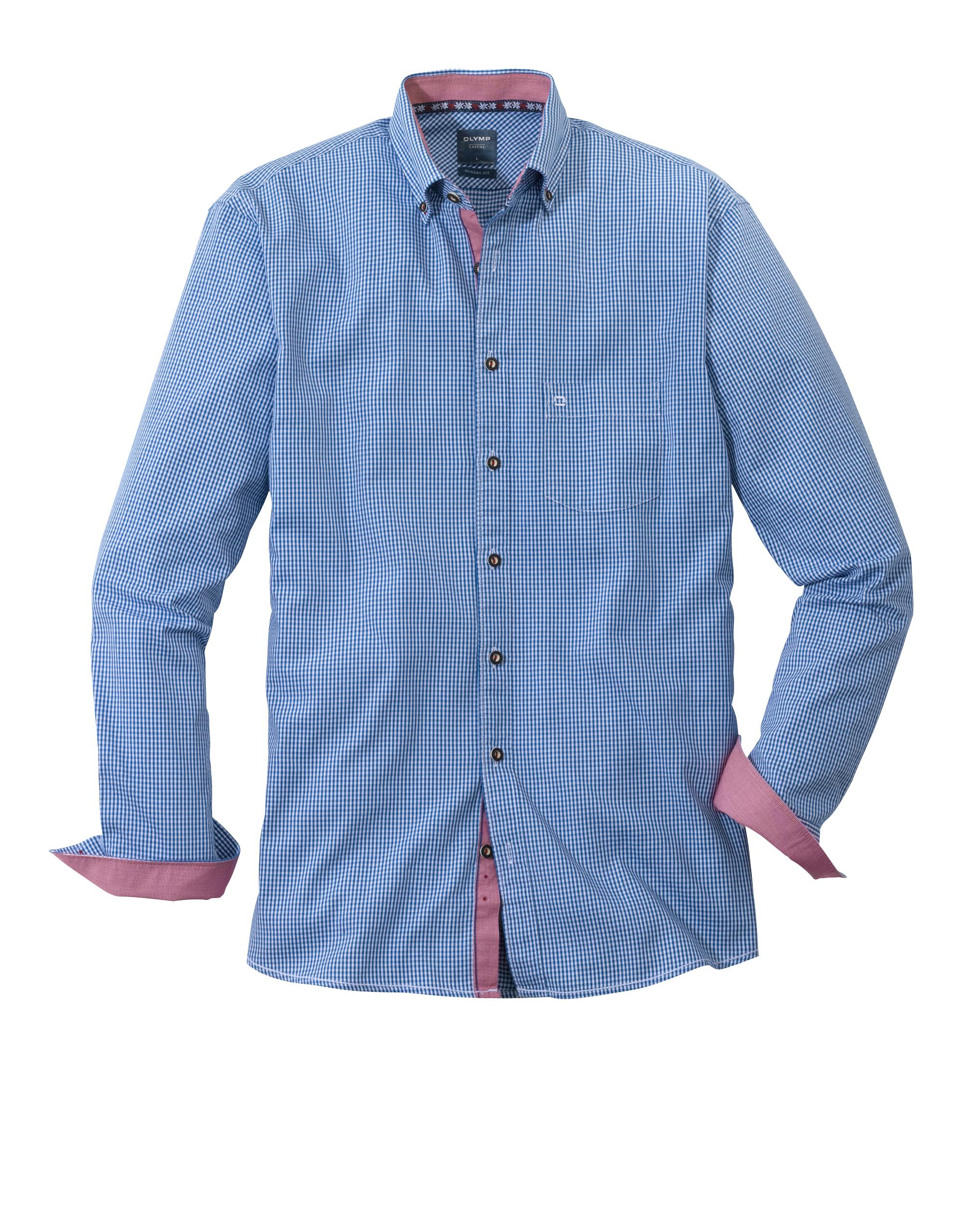 OLYMP Trachtenhemd, modern fit, Button-down, Marine, M   Bekleidung > Hemden > Trachtenhemden   Marine   100% baumwolle   OLYMP Trachtenhemd